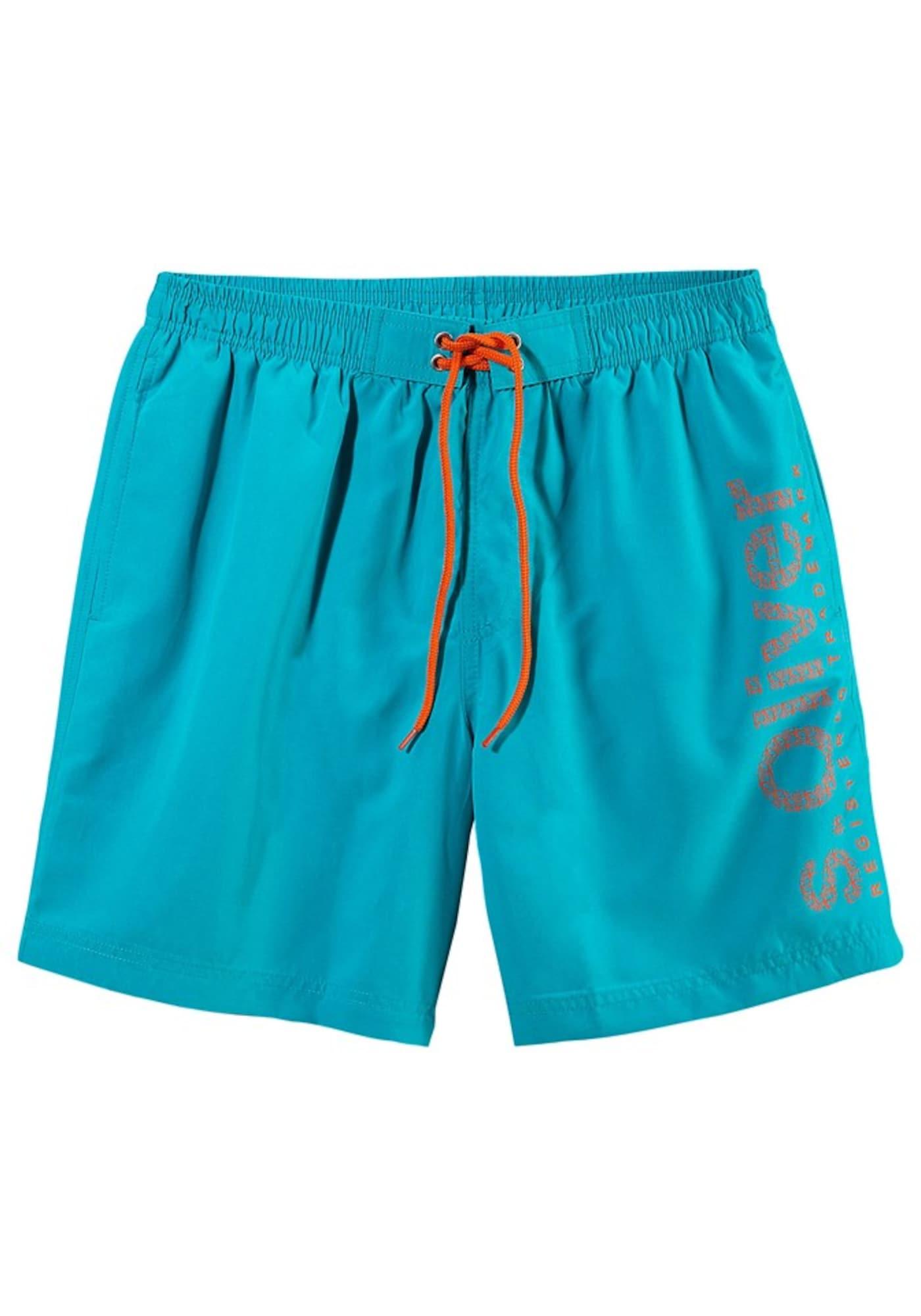 Plavecké šortky aqua modrá S.Oliver RED LABEL