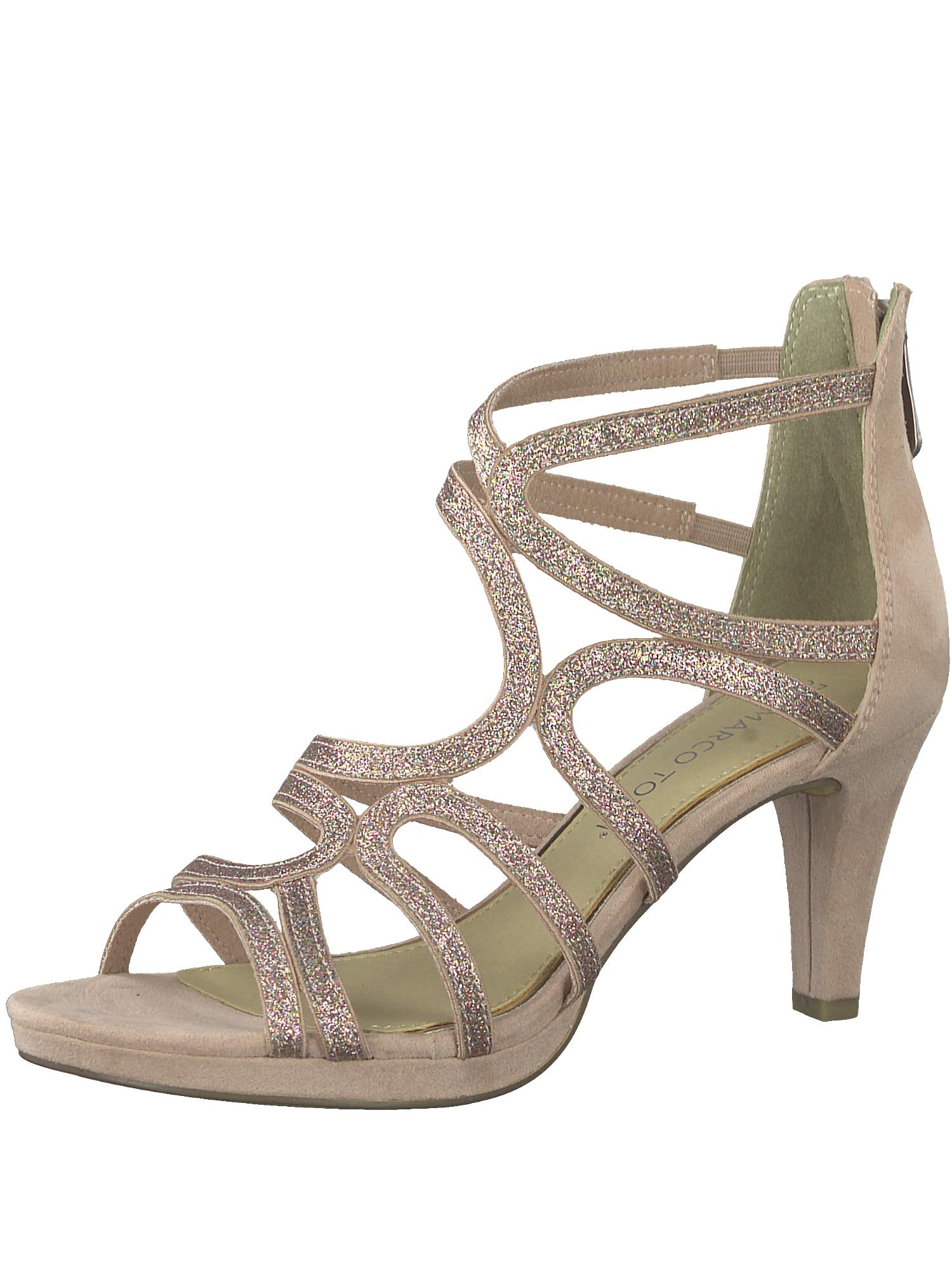 Páskové sandály růžová MARCO TOZZI