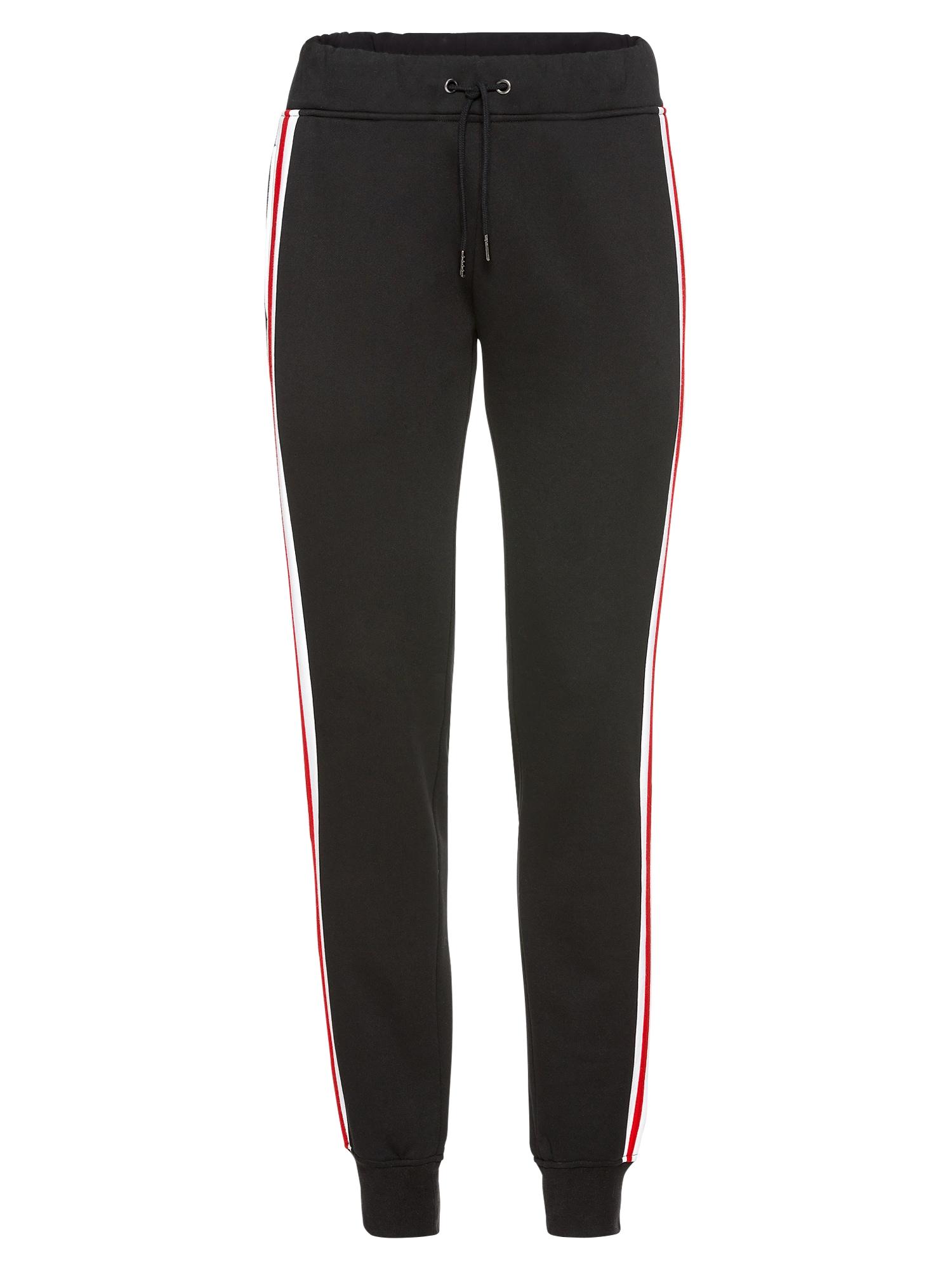Kalhoty červená černá bílá Urban Classics