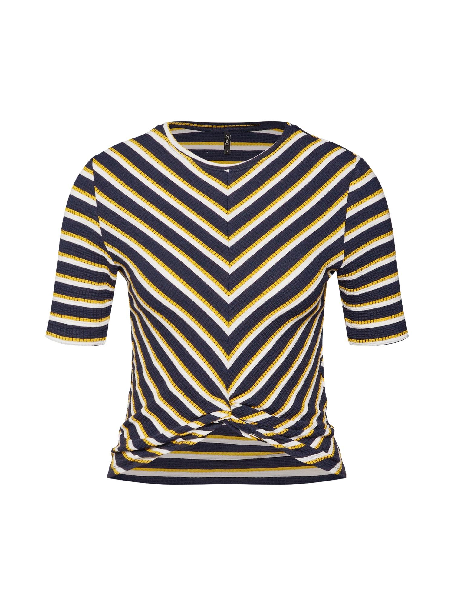 Tričko onlZETA noční modrá žlutá bílá ONLY
