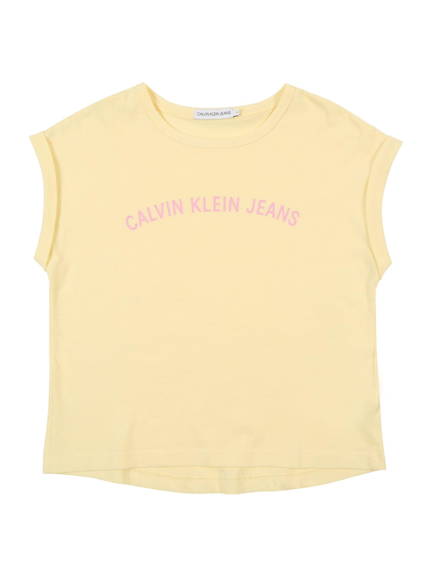 Top citronová růžová Calvin Klein Jeans