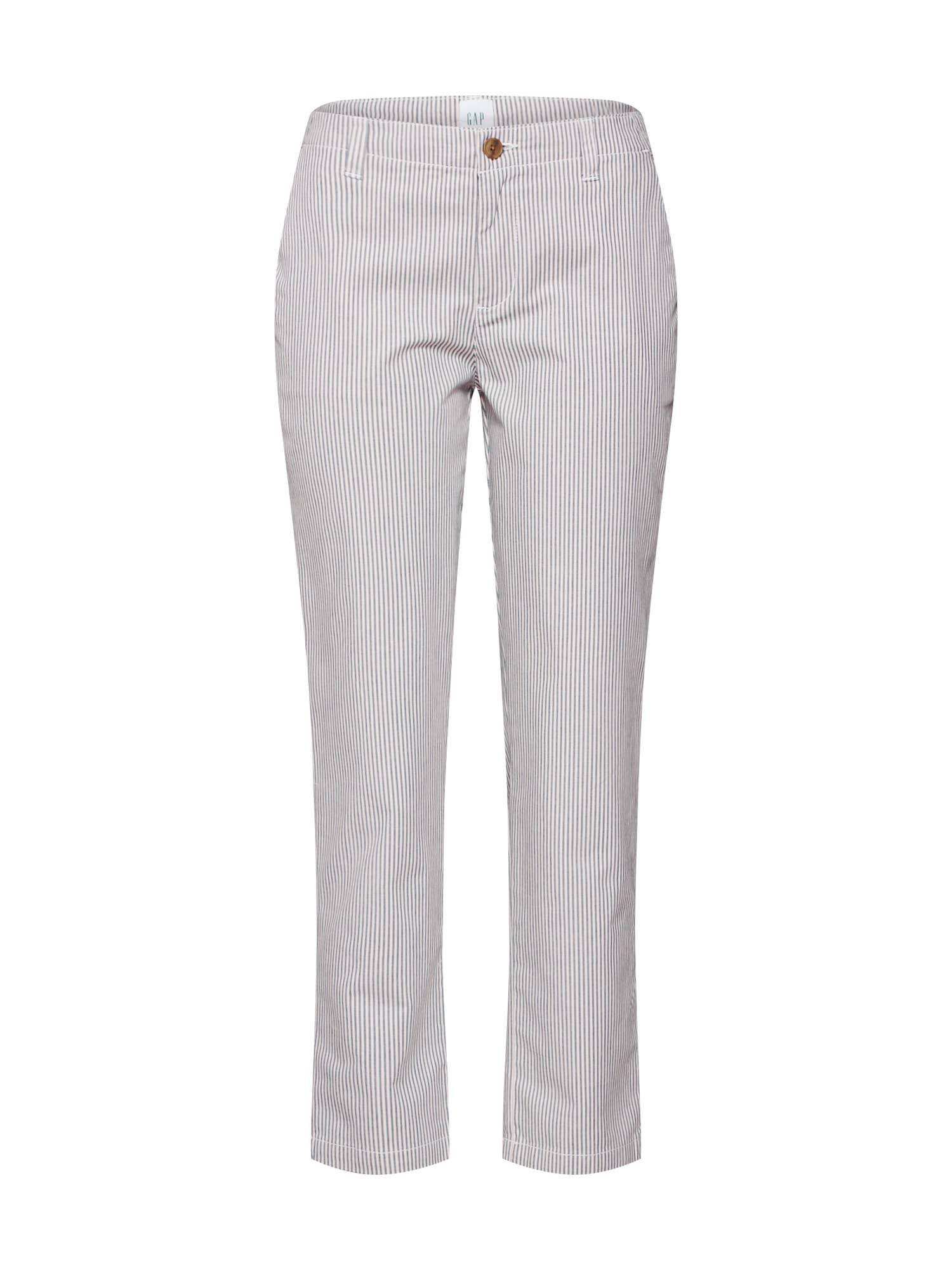 Chino kalhoty šedá bílá GAP