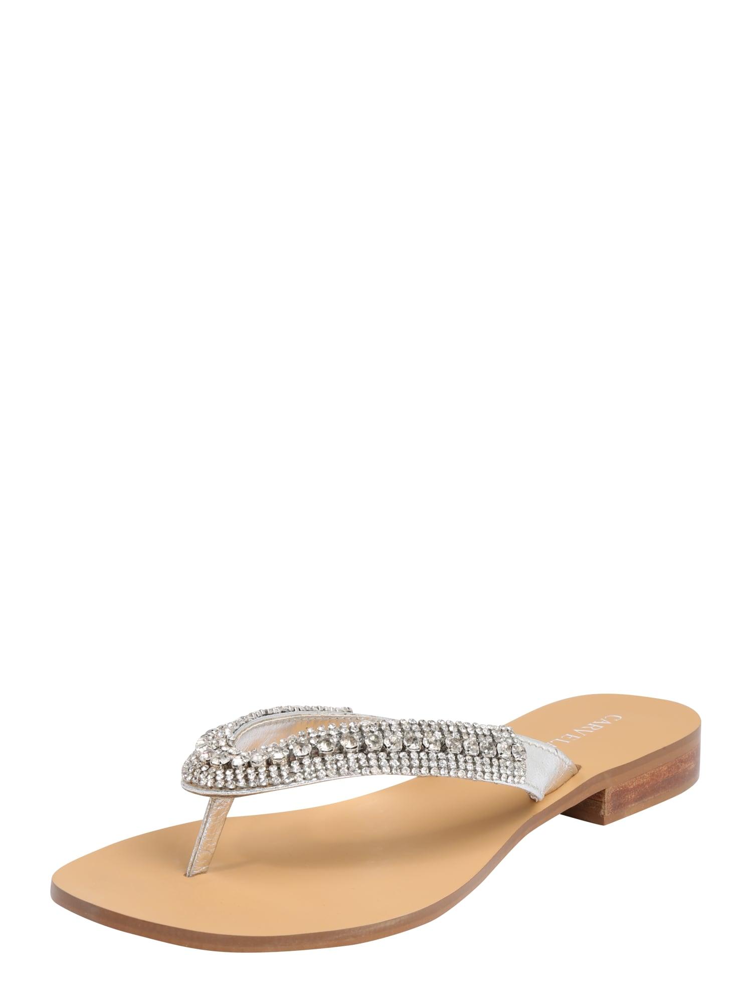Pantofle BREANNE  stříbrná Carvela By Kurt Geiger