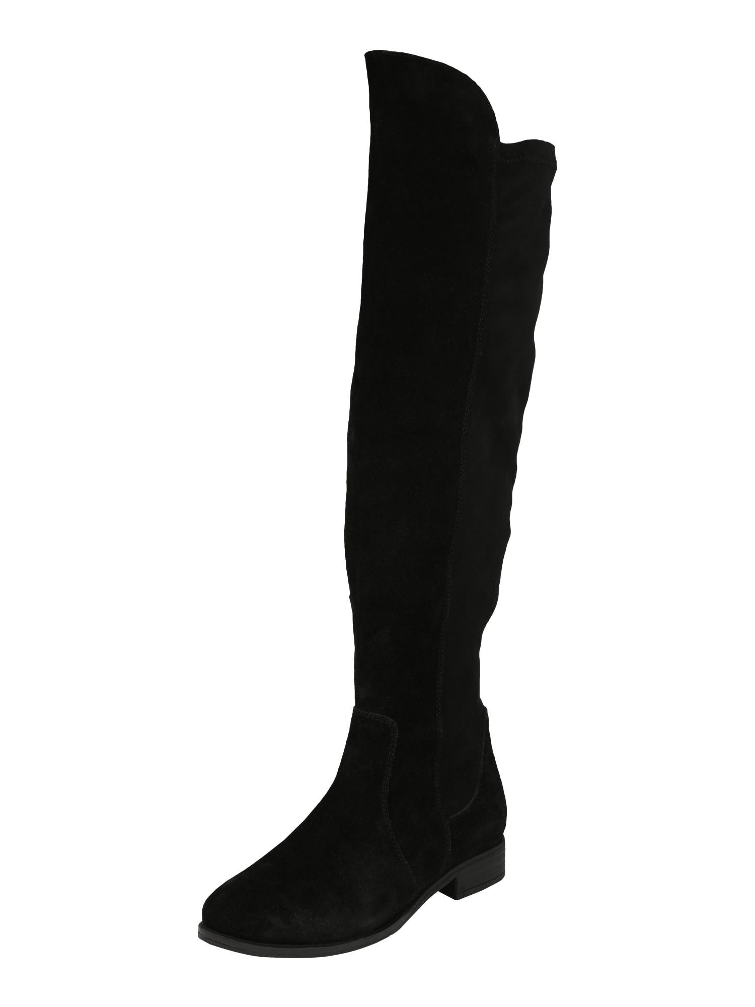 ABOUT YOU, Dames Overknee laarzen 'Carolina', zwart