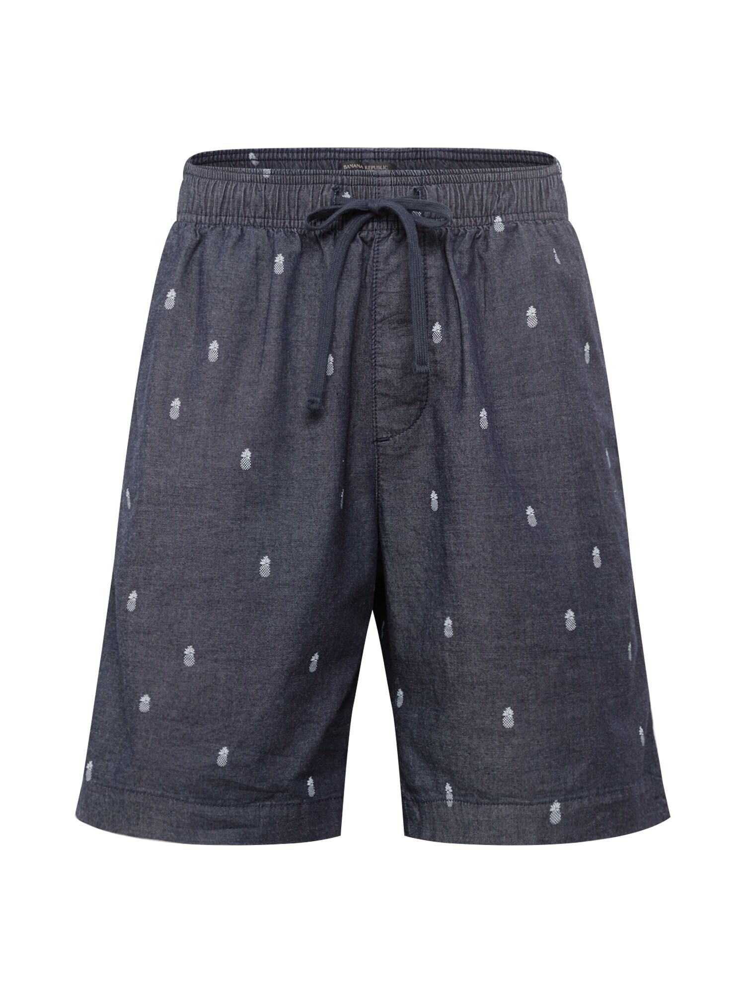 Kalhoty EASY SHORT PINEAPPLE chladná modrá Banana Republic