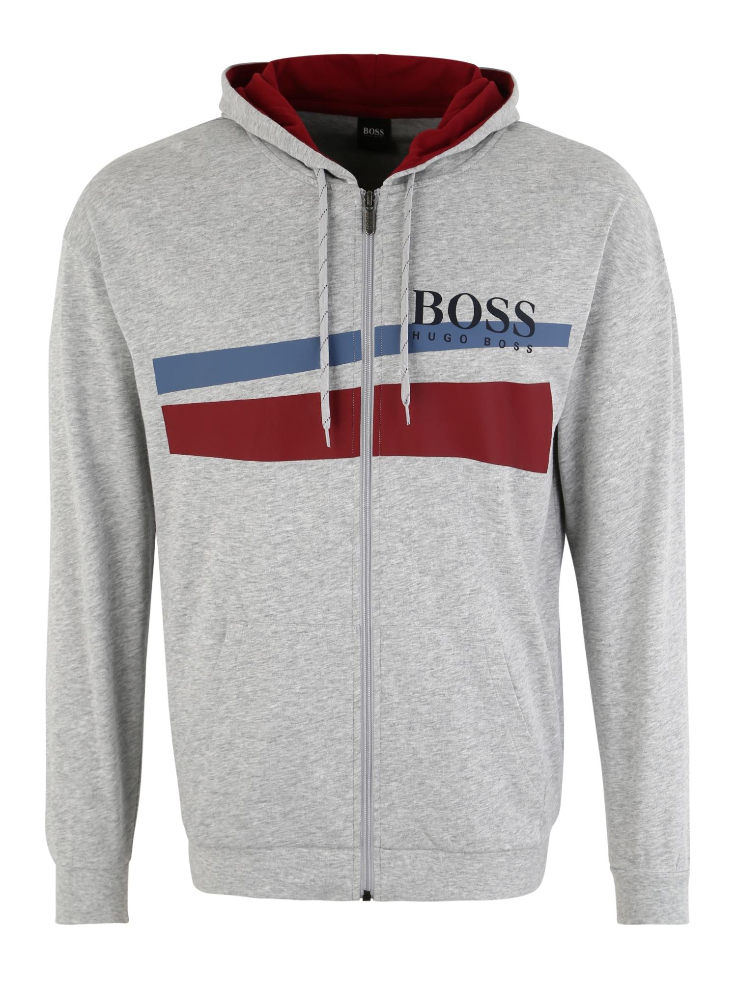 Pyžamo dlouhé Authentic H modrá šedá červenofialová BOSS