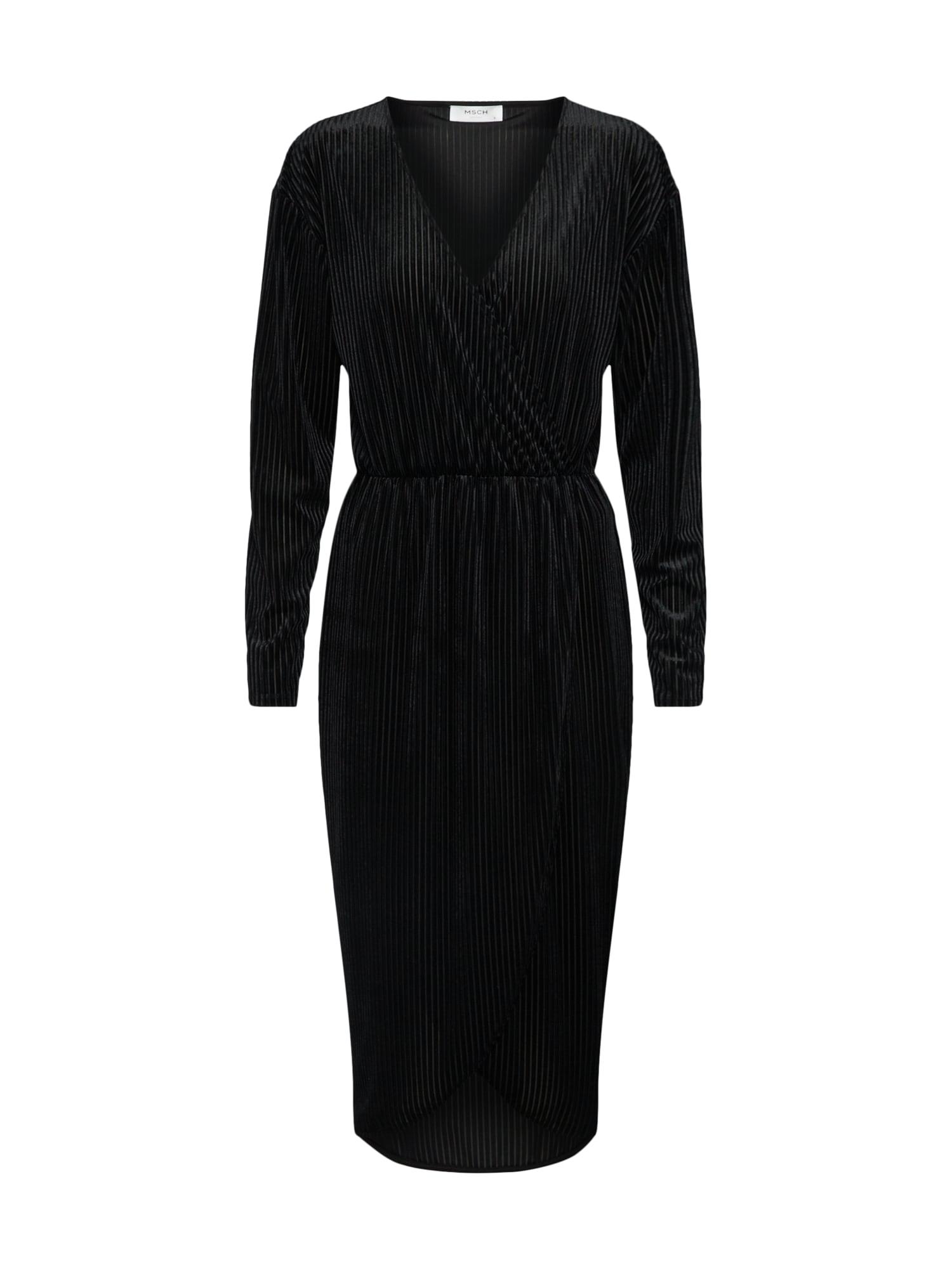 Šaty Vivo černá MOSS COPENHAGEN