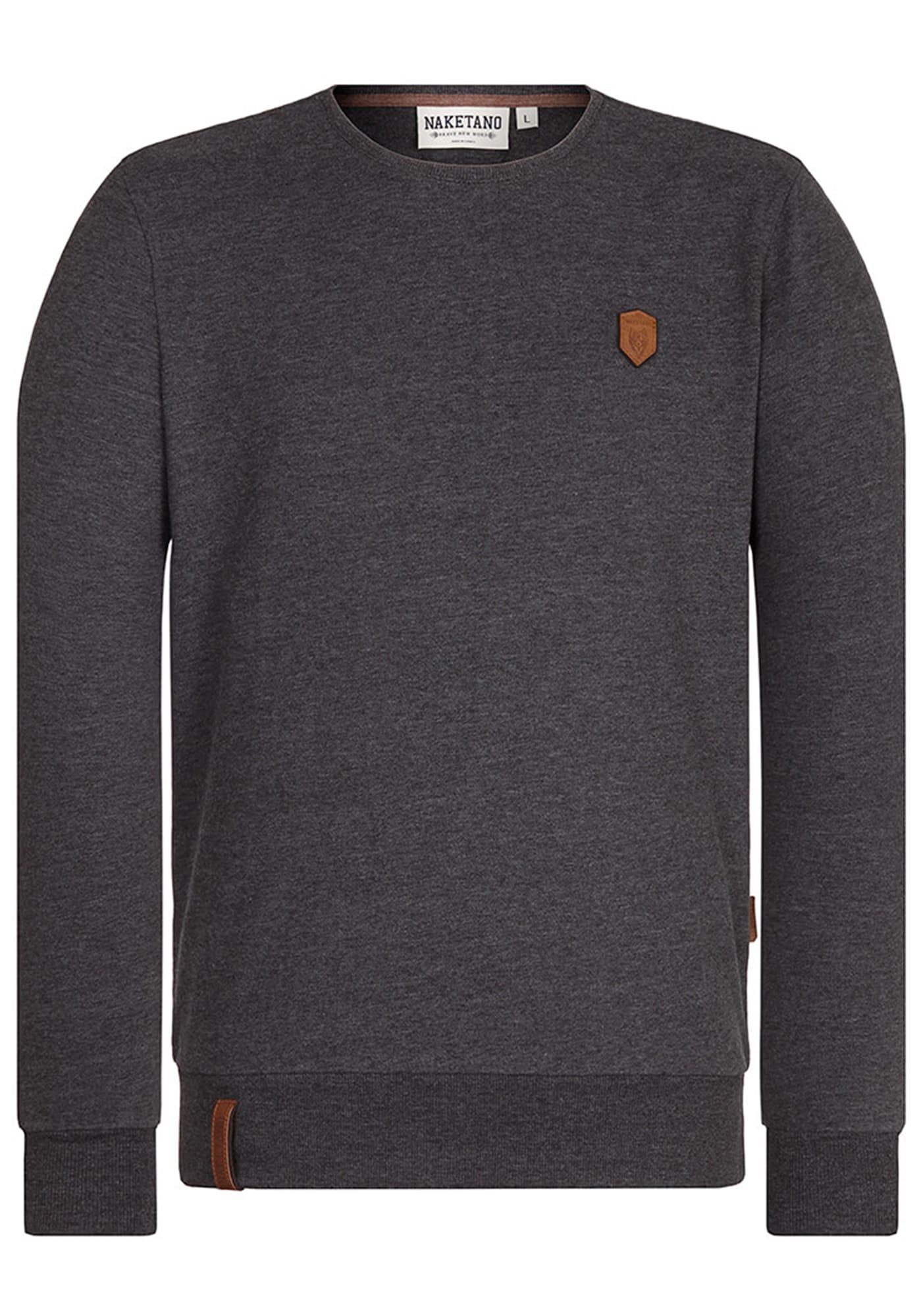Sweatshirt 'Al K.Ohol' | Bekleidung > Sweatshirts & -jacken > Sweatshirts | Anthrazit | Naketano