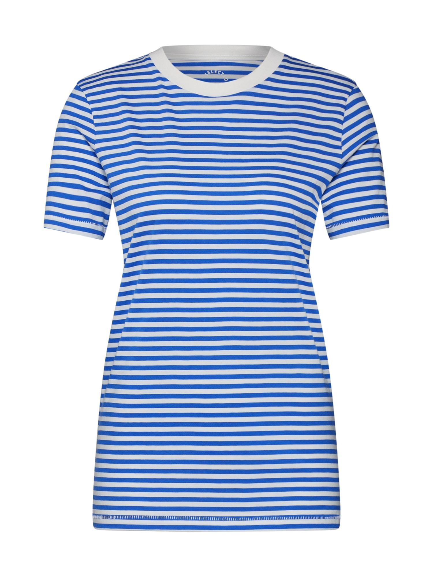 Tričko SFMY PERFECT TEE modrá bílá SELECTED FEMME
