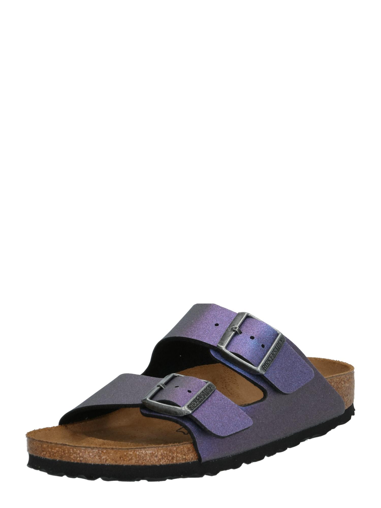 Pantofle Arizona ICY METALLIC modrá fialová BIRKENSTOCK