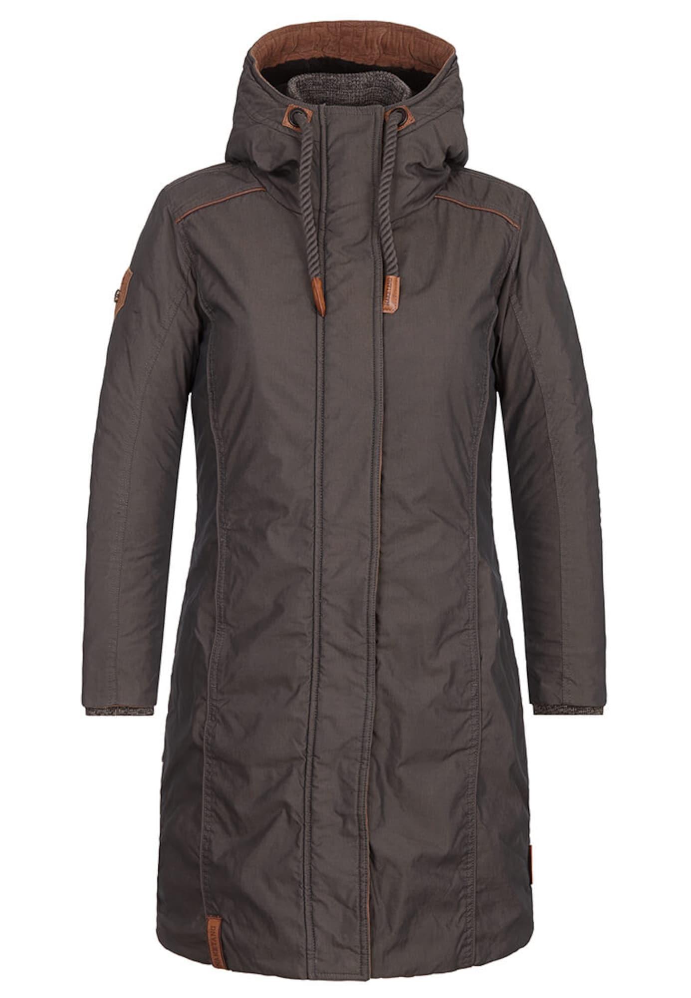 Zimní kabát Legs up face down černá Naketano