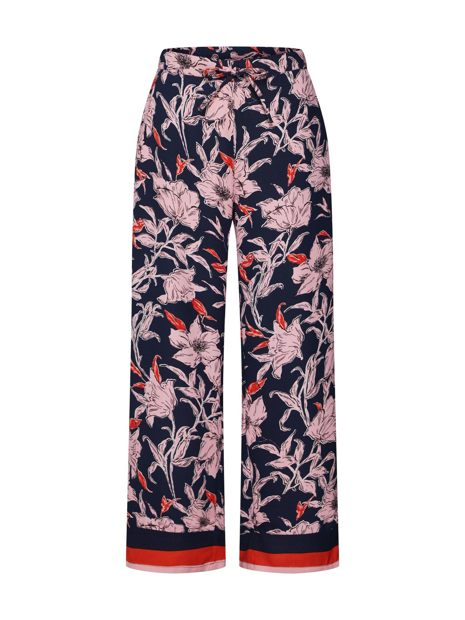 Kalhoty JDYYADIRA ANK PANT WVN EXP tmavě modrá růžová červená JACQUELINE De YONG