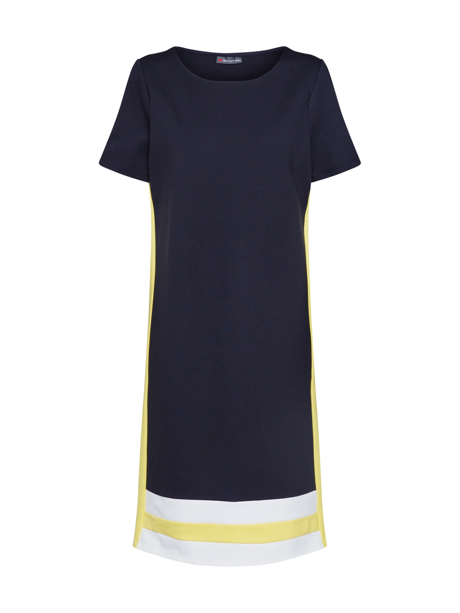 Šaty námořnická modř žlutá bílá STREET ONE