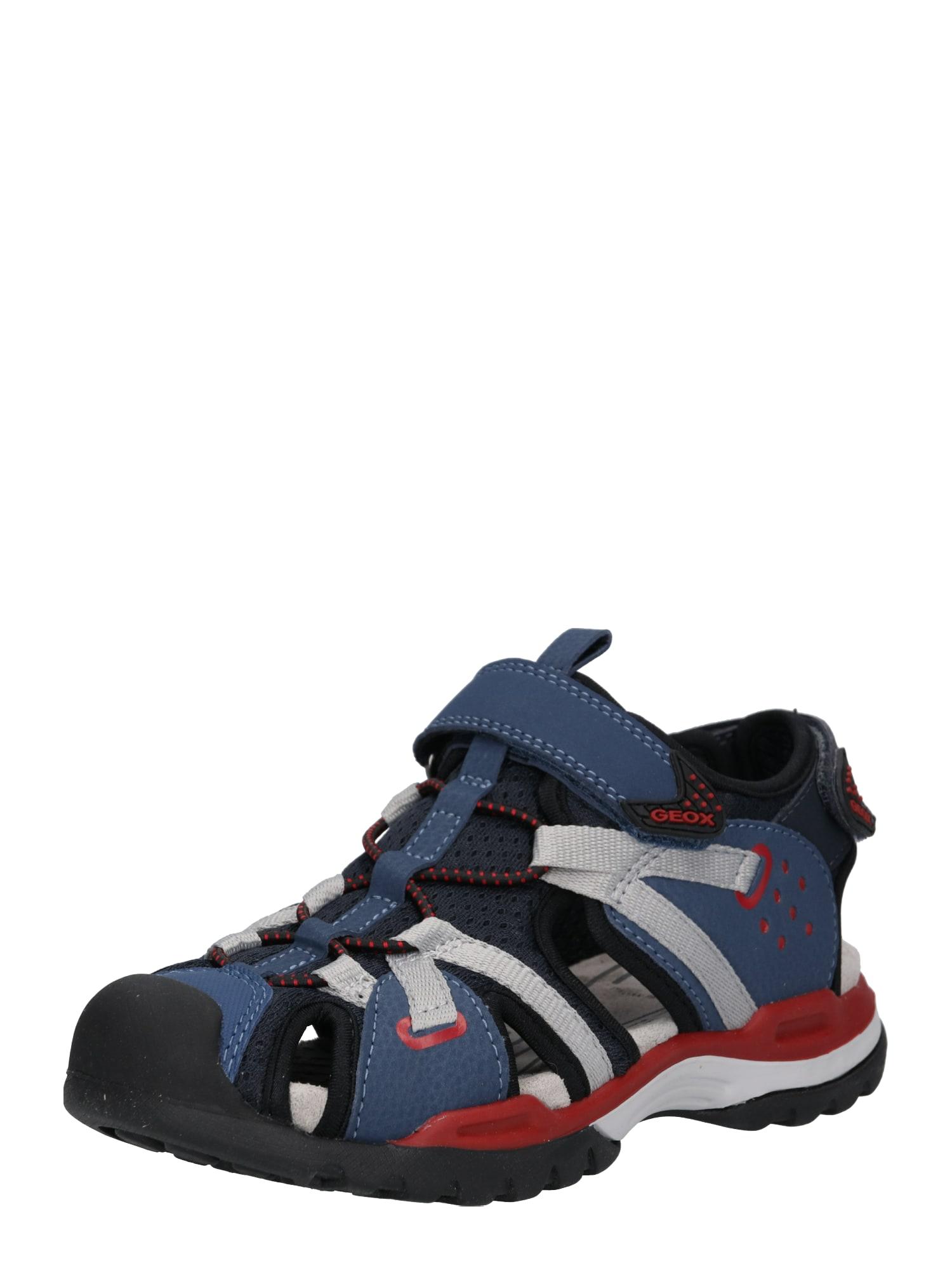 Otevřená obuv BOREALIS modrá červená GEOX