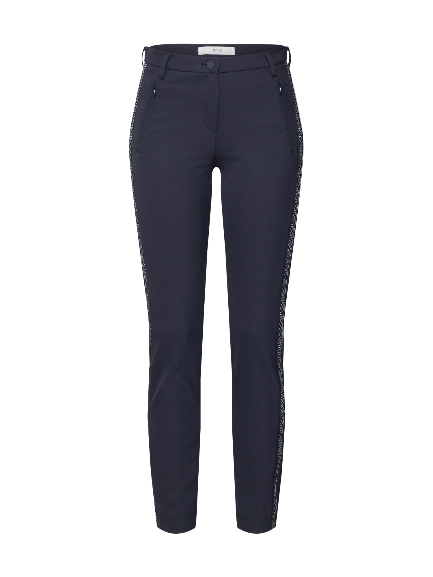 Kalhoty Mills námořnická modř bílá BRAX