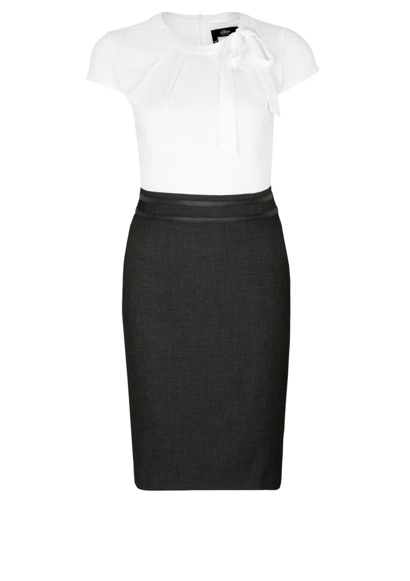 Košilové šaty černý melír bílá S.Oliver BLACK LABEL