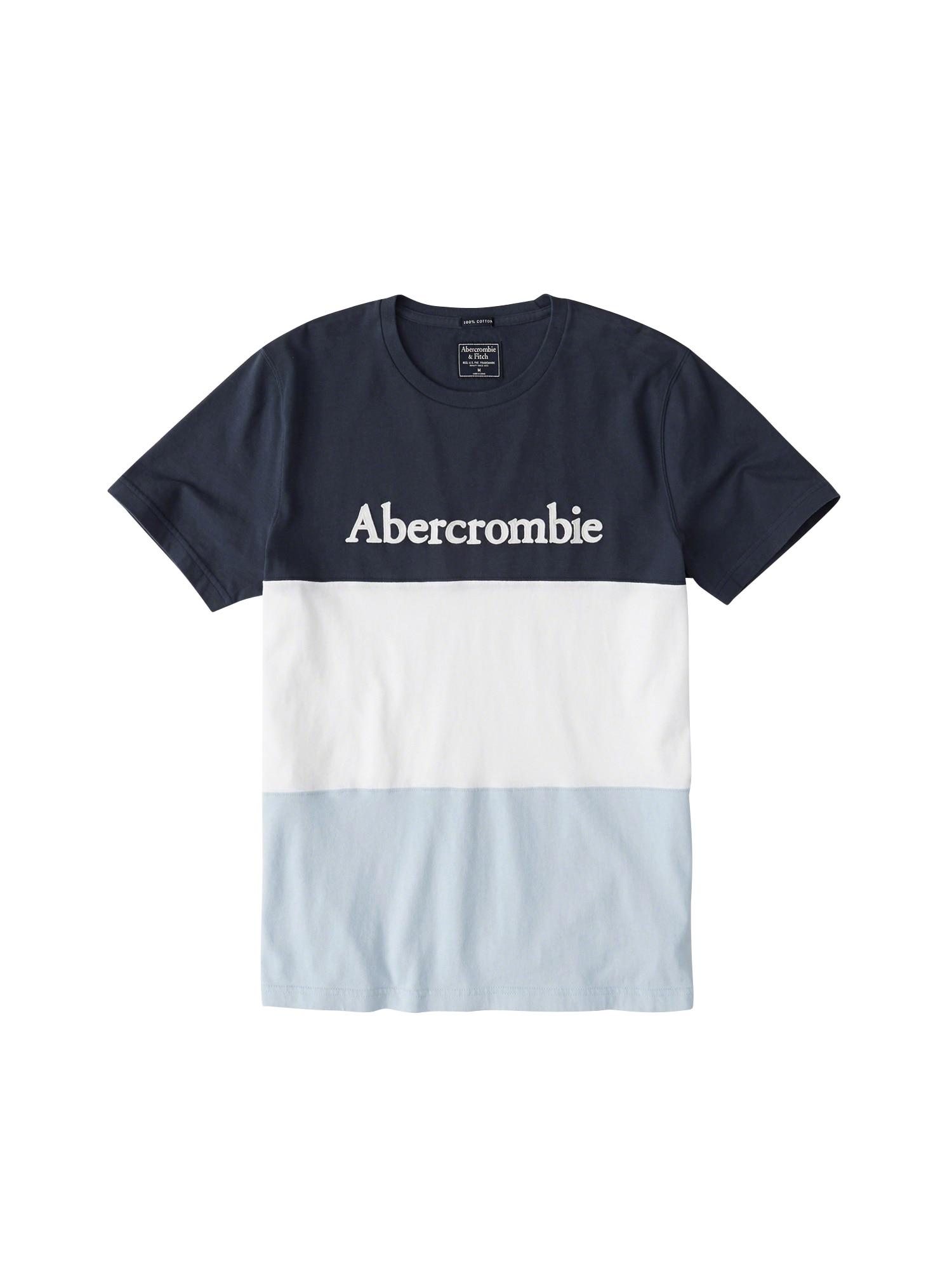 Tričko SS LEGACY COLOR námořnická modř bílá Abercrombie & Fitch