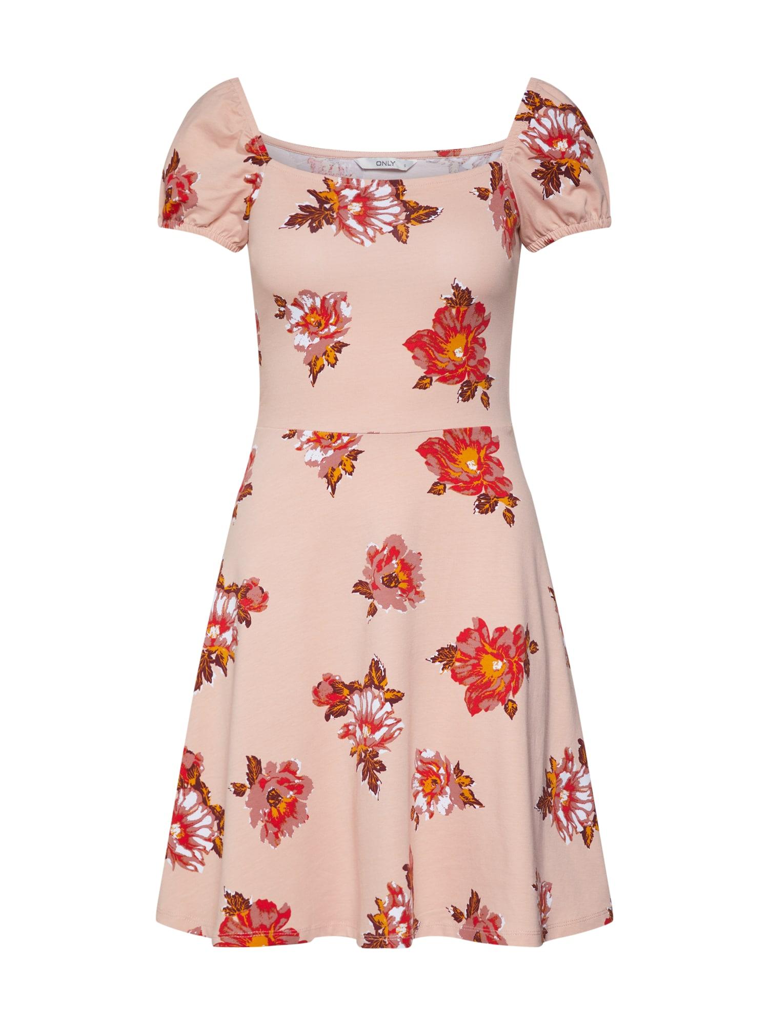 Letní šaty NIELLA růžová červená ONLY