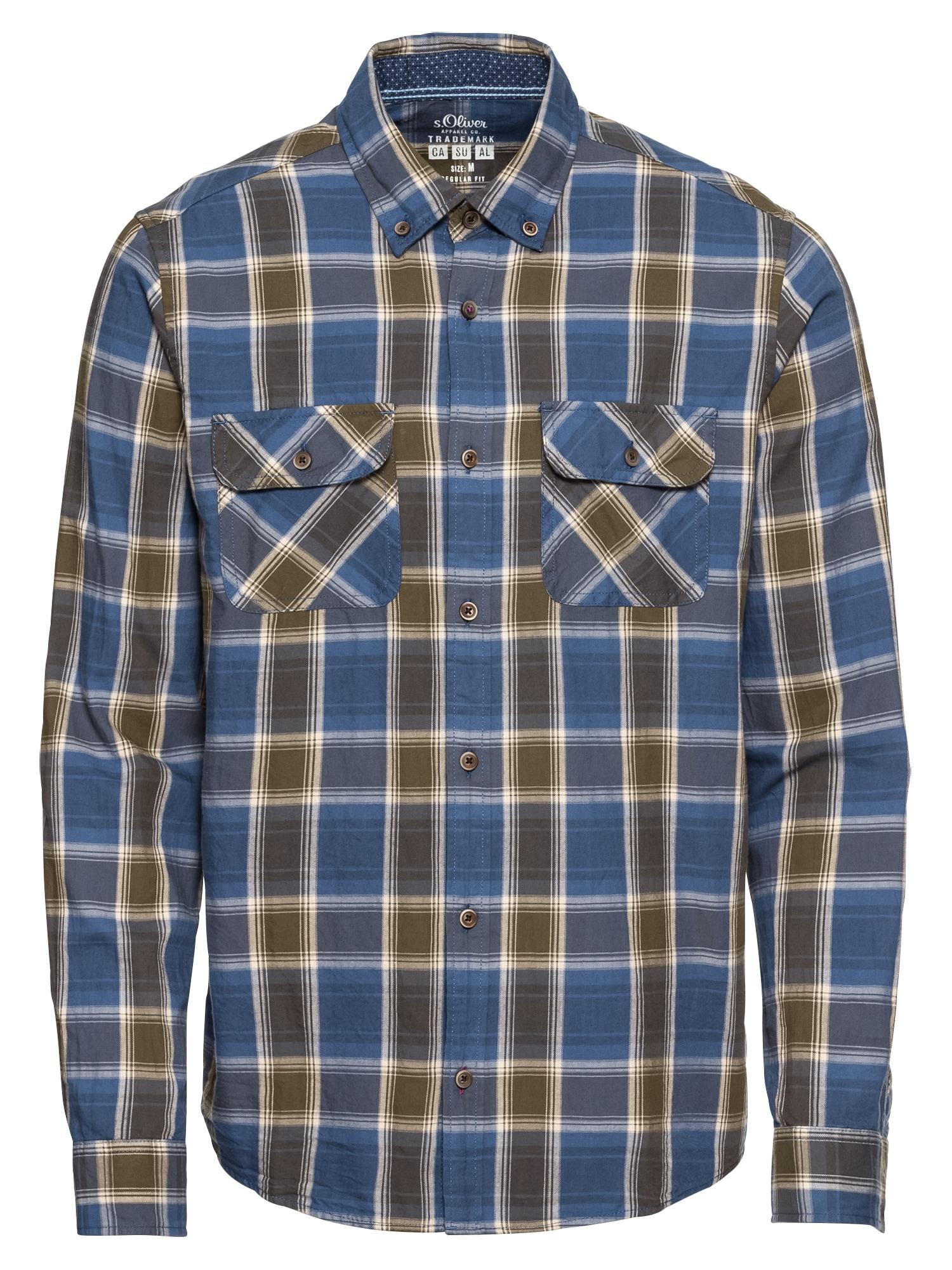 Košile tmavě modrá khaki S.Oliver RED LABEL