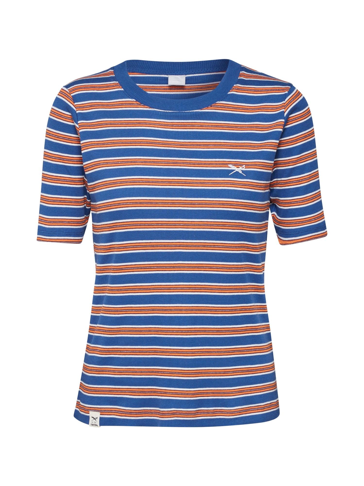 Iriedaily Tričko 'Mimie'  oranžová / námořnická modř