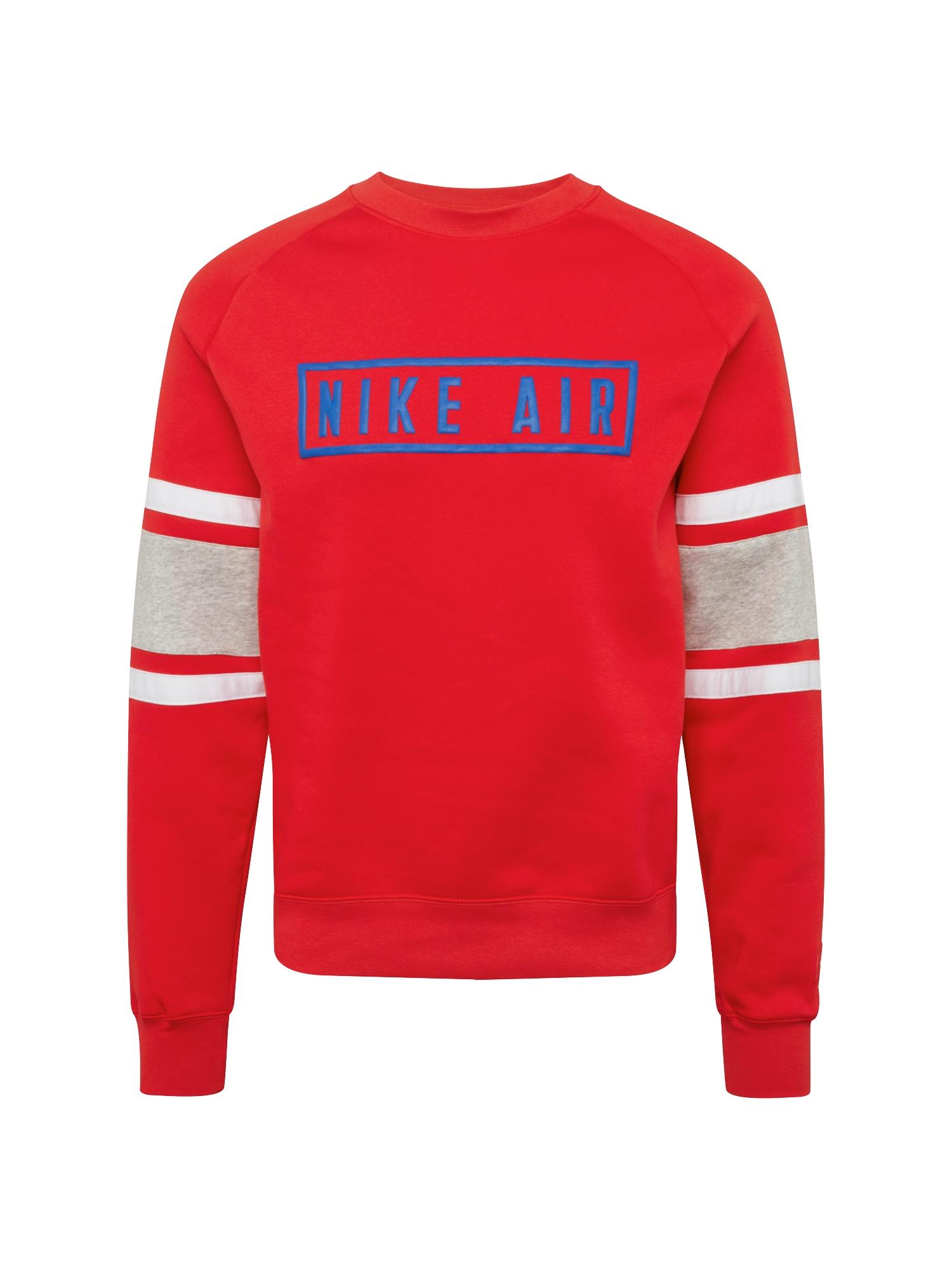 Mikina M NSW NIKE AIR CREW FLC červená bílá Nike Sportswear