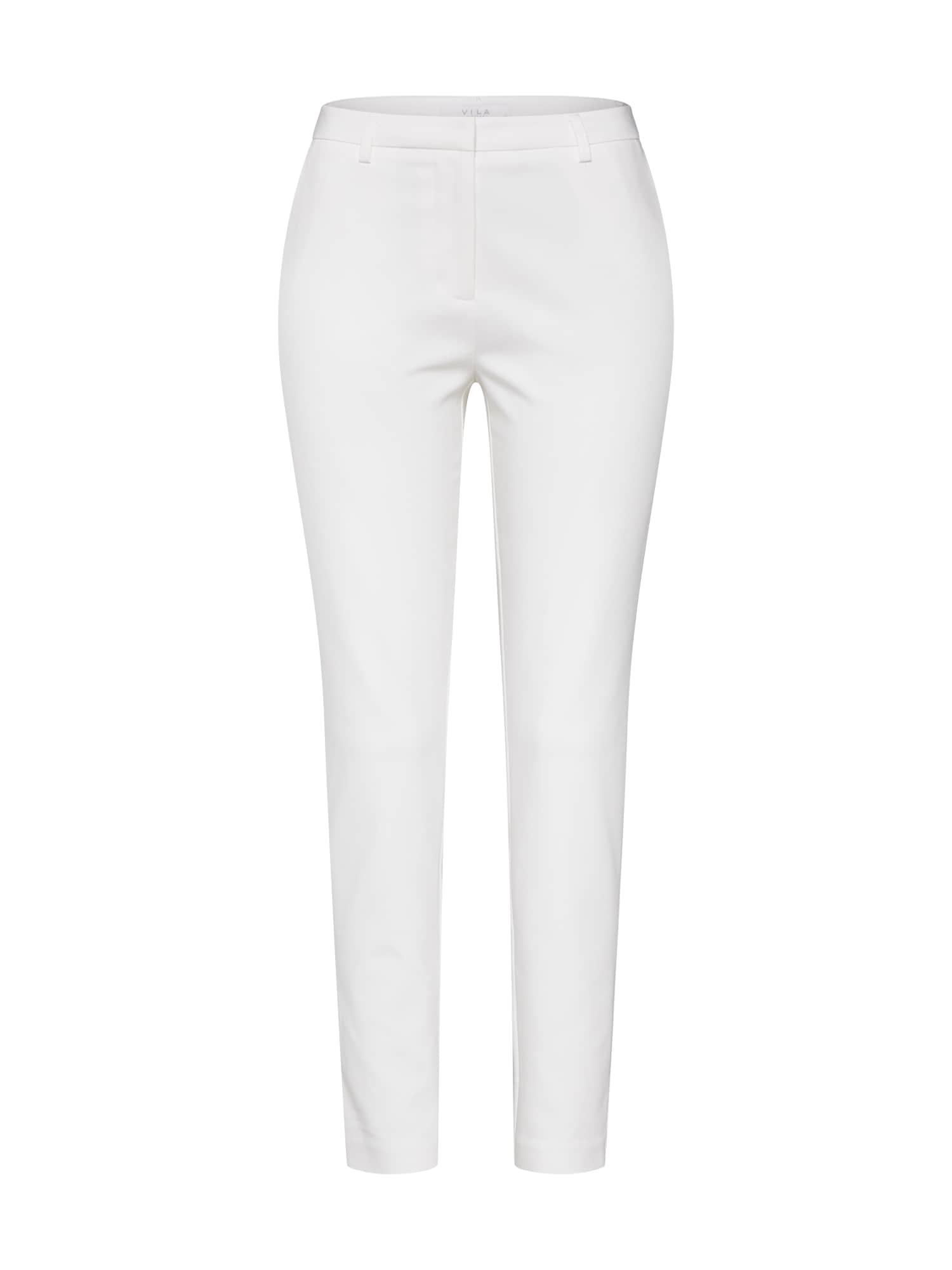 Kalhoty se sklady v pase ADELIA bílá VILA