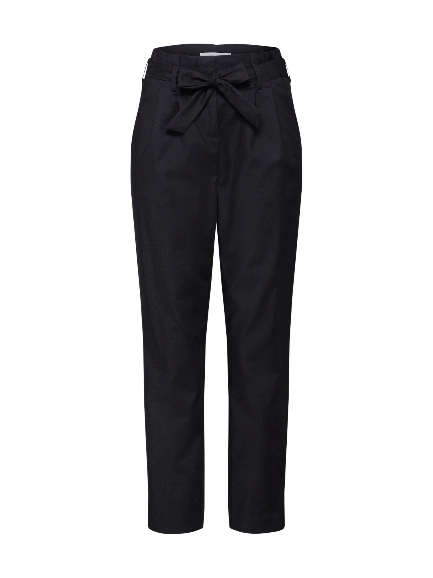 Kalhoty se sklady v pase VISOFINA černá VILA