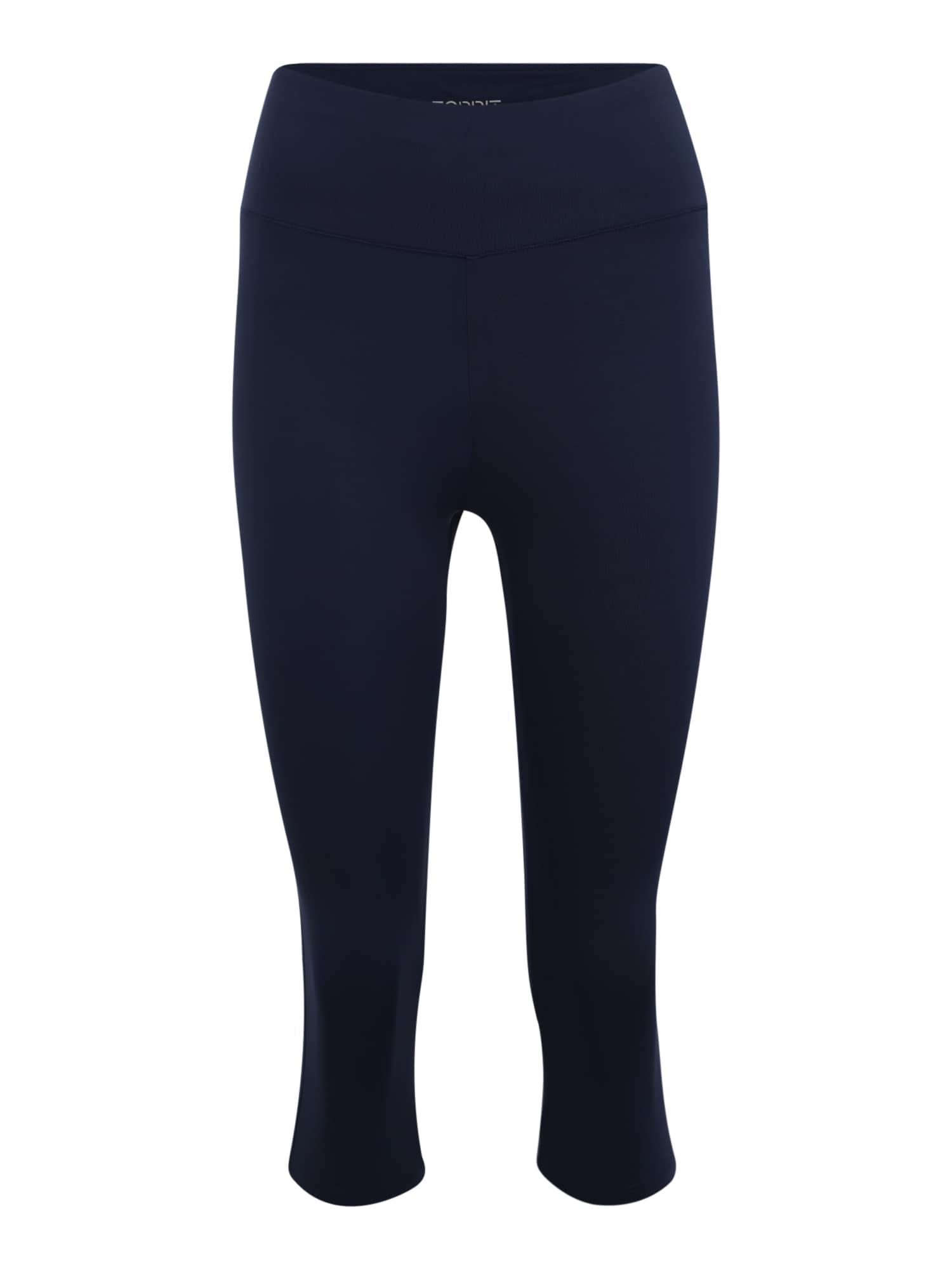 Sportovní kalhoty tight edry sl Pants knitted námořnická modř ESPRIT SPORTS