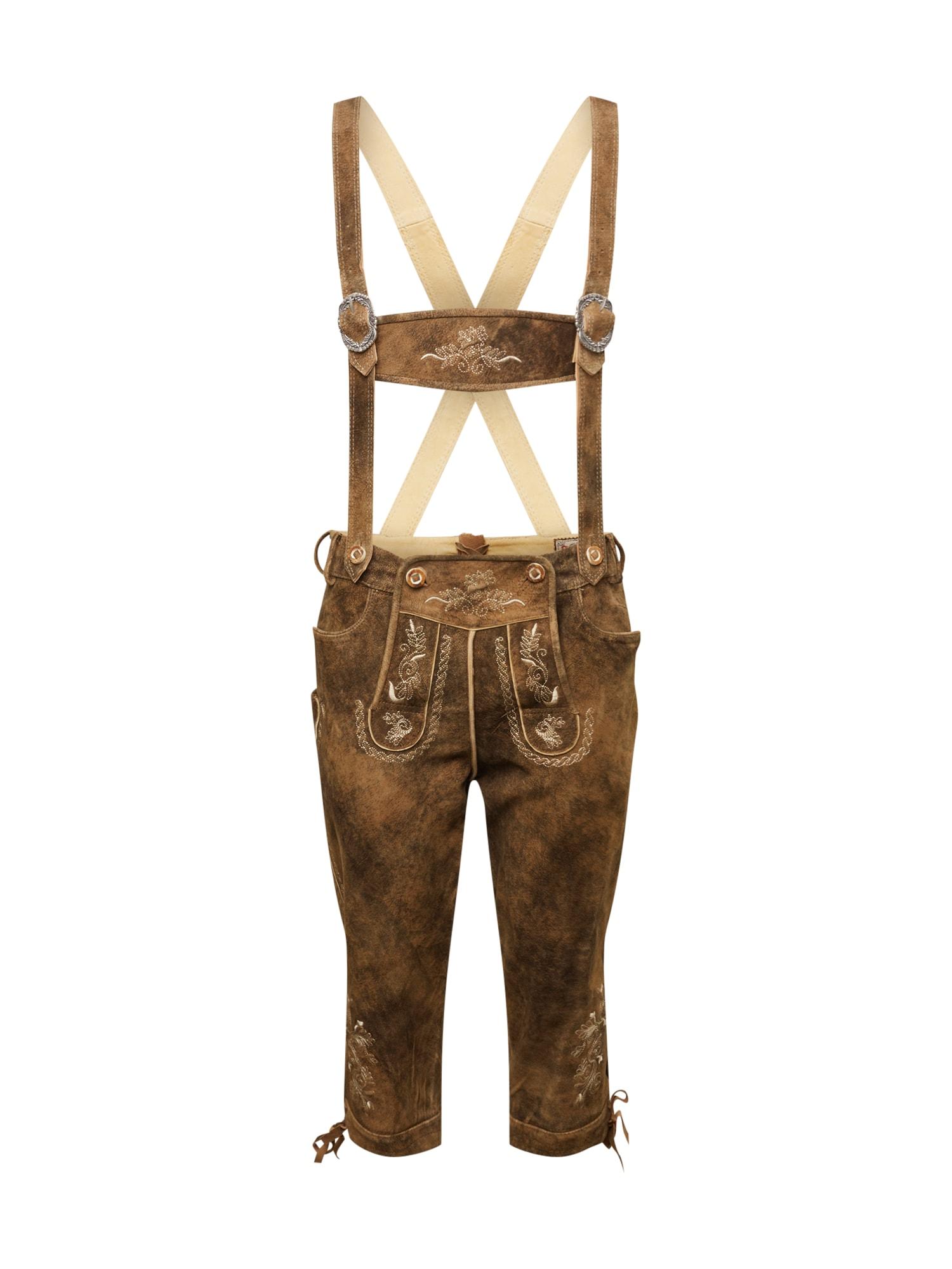 Krojové kalhoty Justin3 hnědá STOCKERPOINT