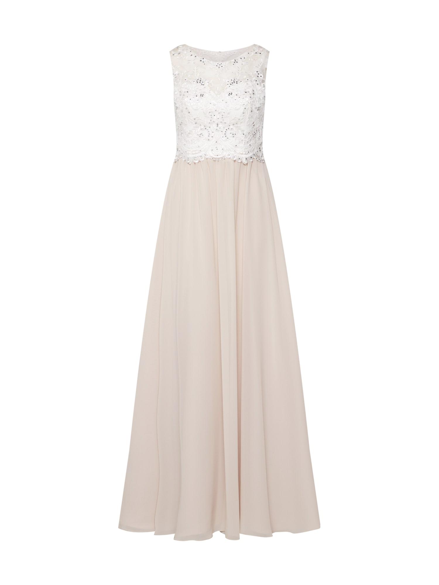 Společenské šaty krémová perlově bílá Laona