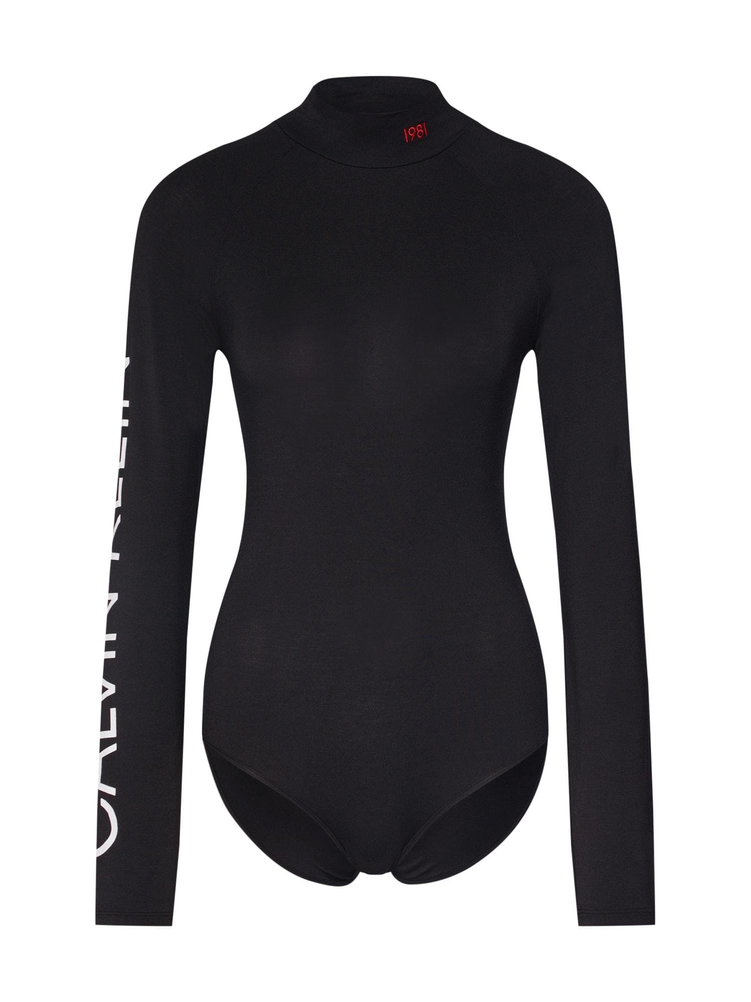 Body černá bílá Calvin Klein Underwear