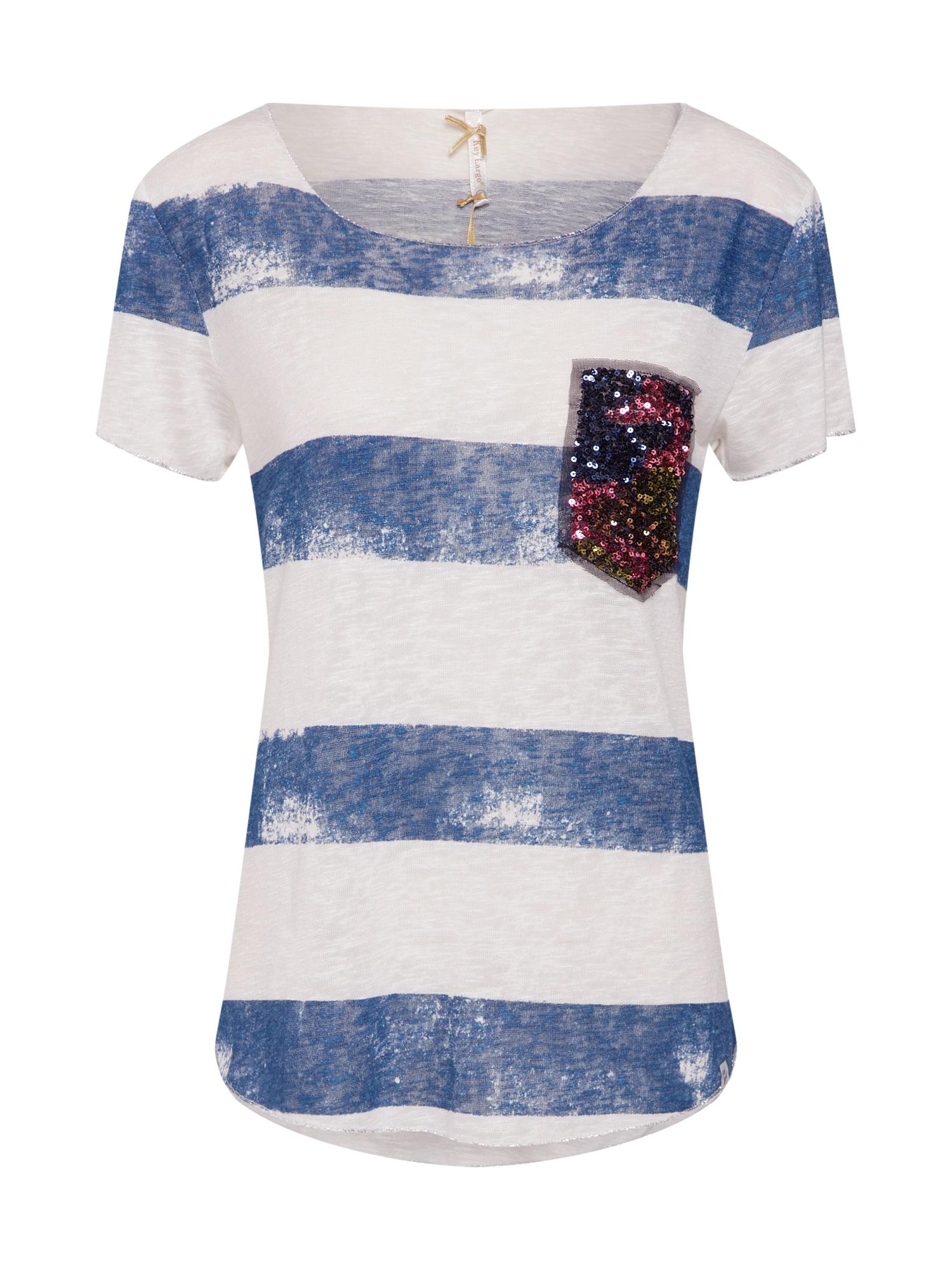 Tričko béžová modrá Key Largo