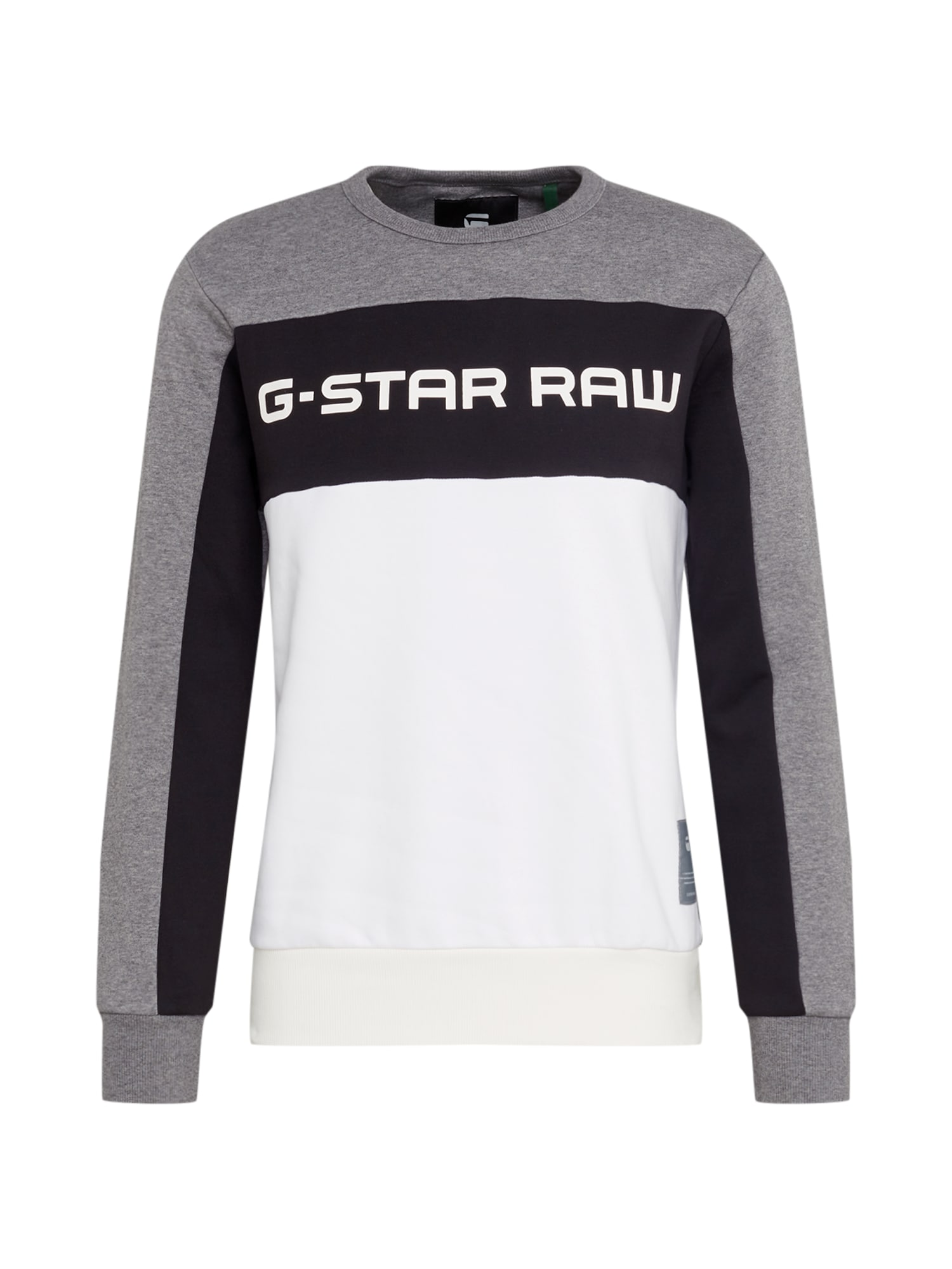 Mikina Swando New Block šedý melír černá bílá G-STAR RAW