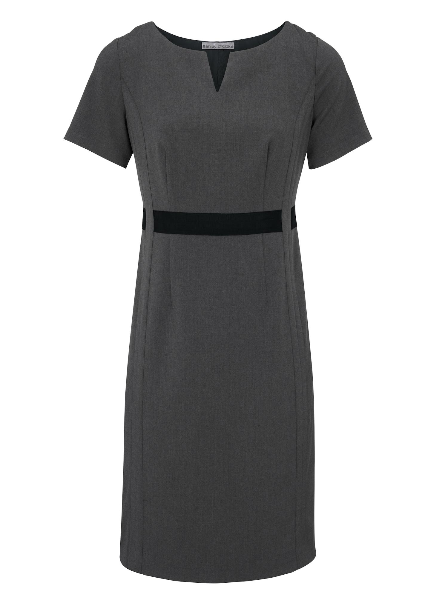 Pouzdrové šaty šedý melír černá Heine