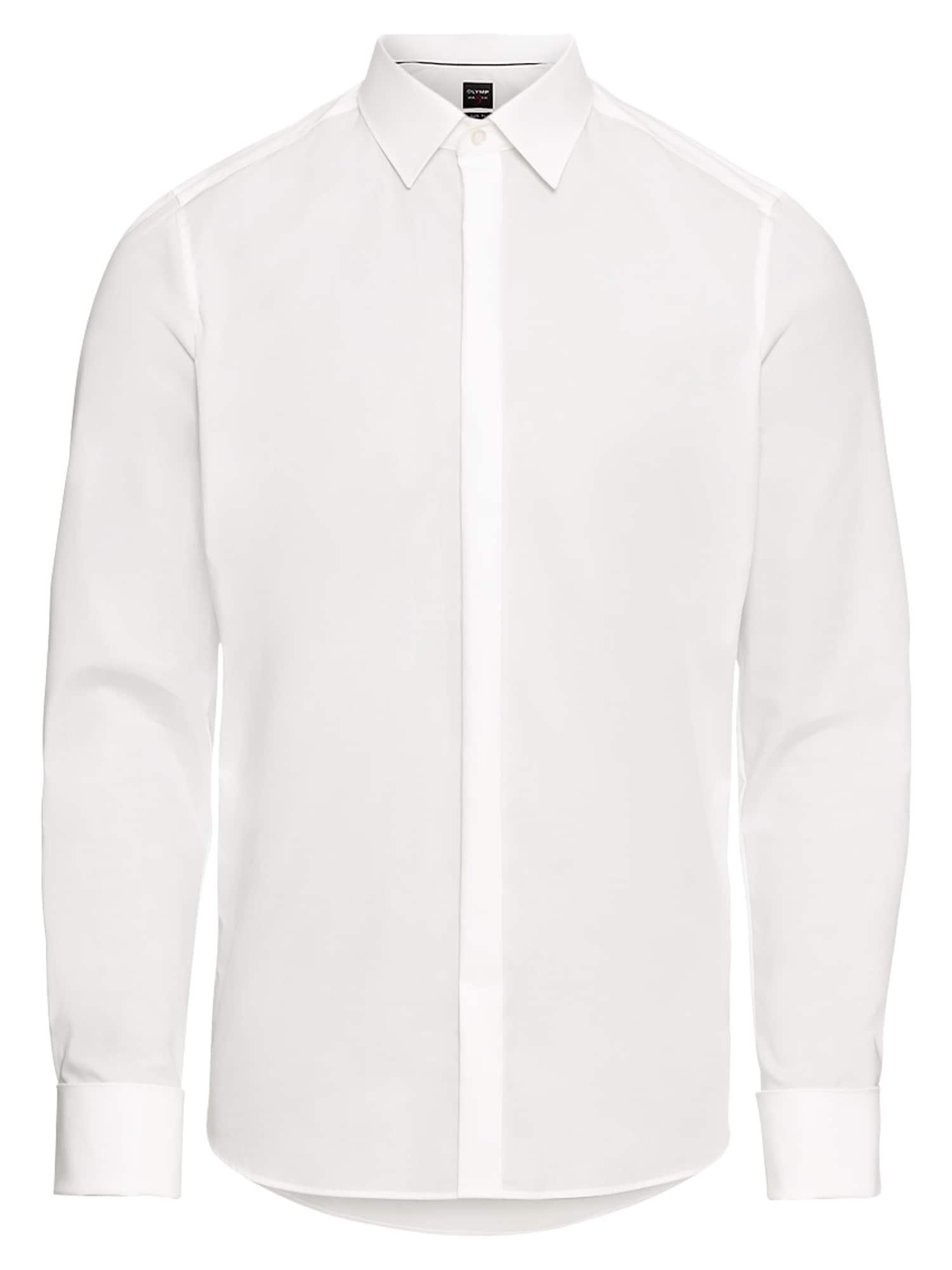 Společenská košile Soiree Lvl 5 Uni Pop krémová OLYMP