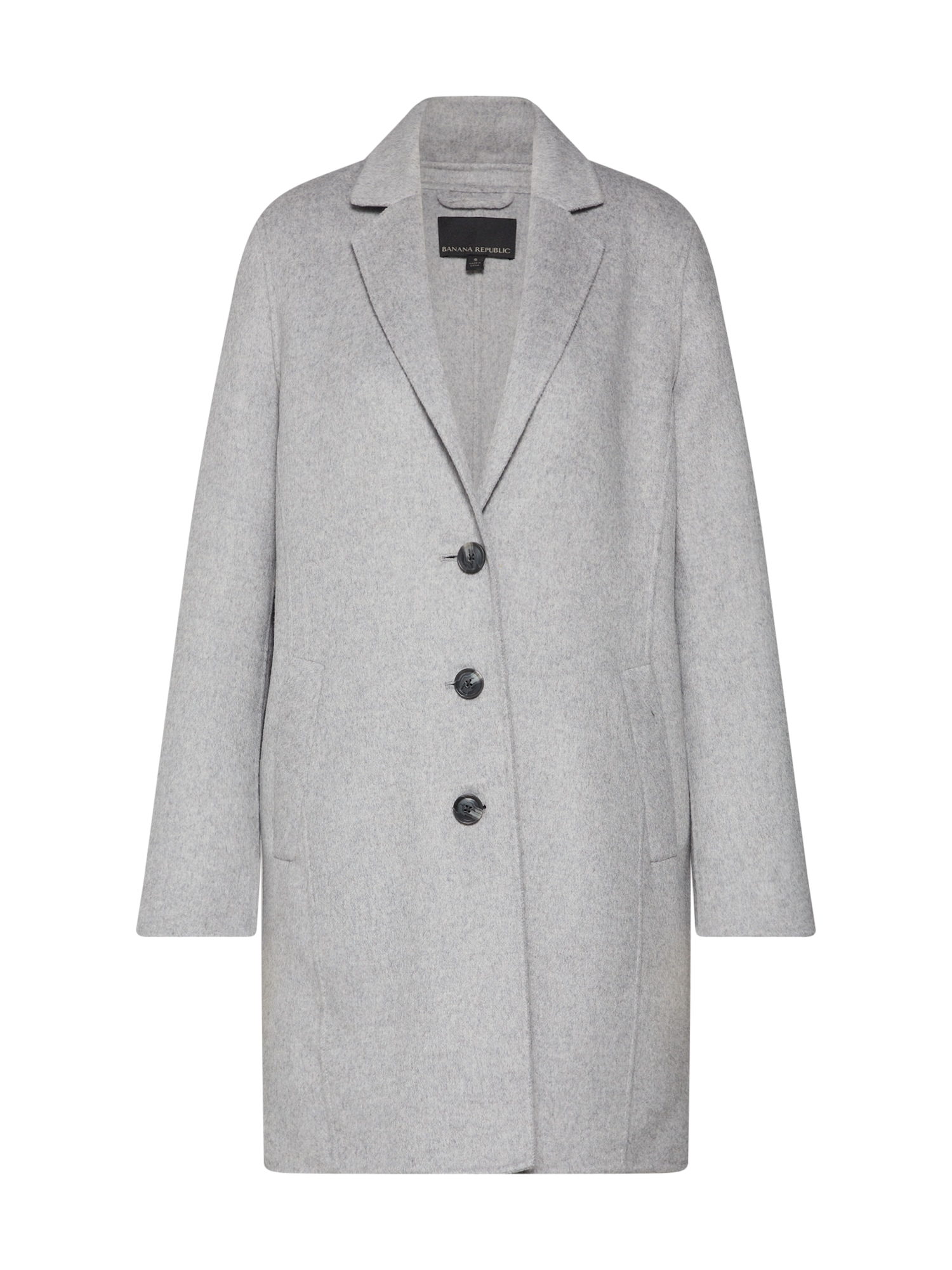 Přechodný kabát DOUBLE FACE TOP COAT šedý melír Banana Republic