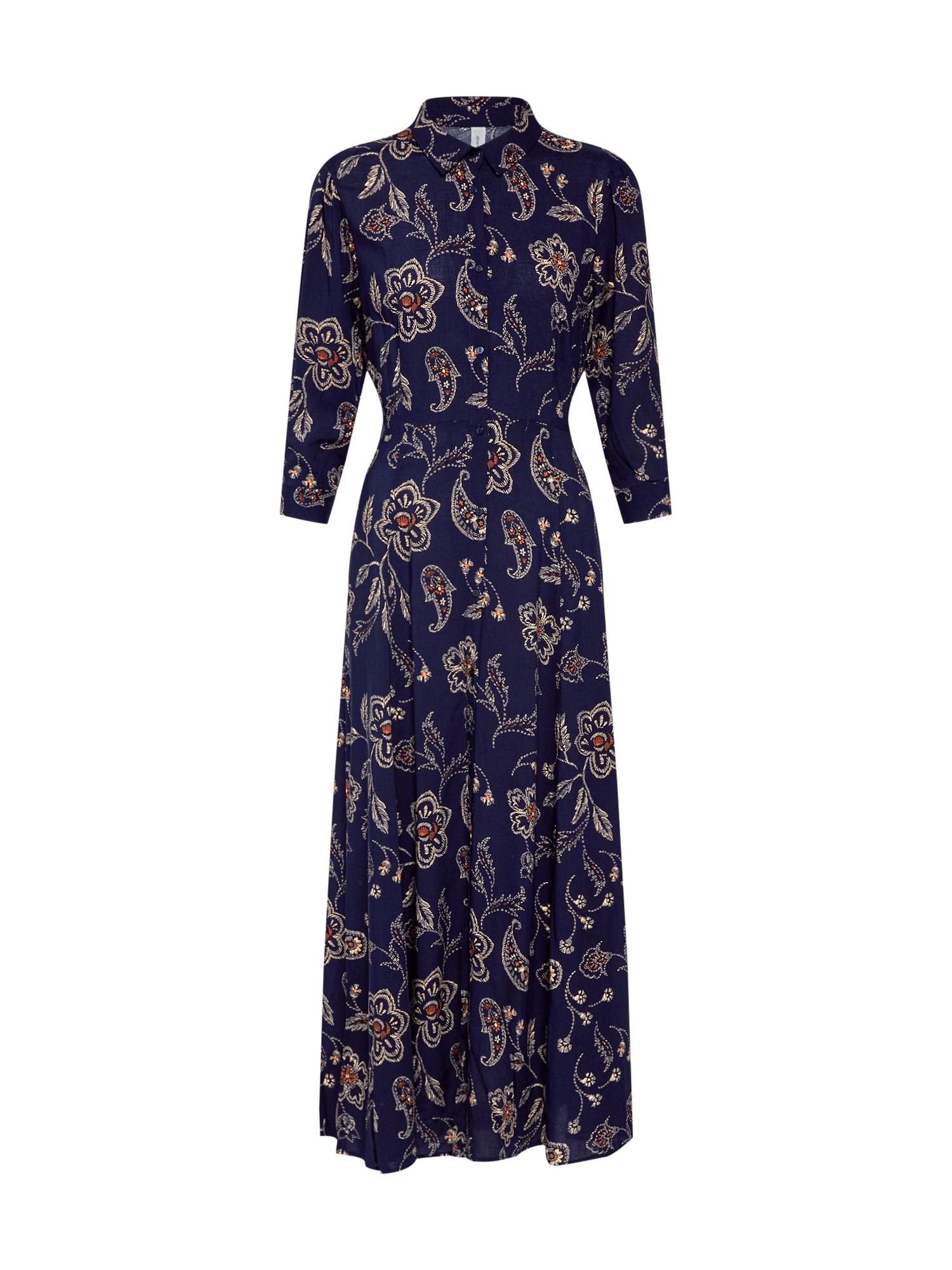 Košilové šaty BONNA 3 námořnická modř mix barev Soyaconcept