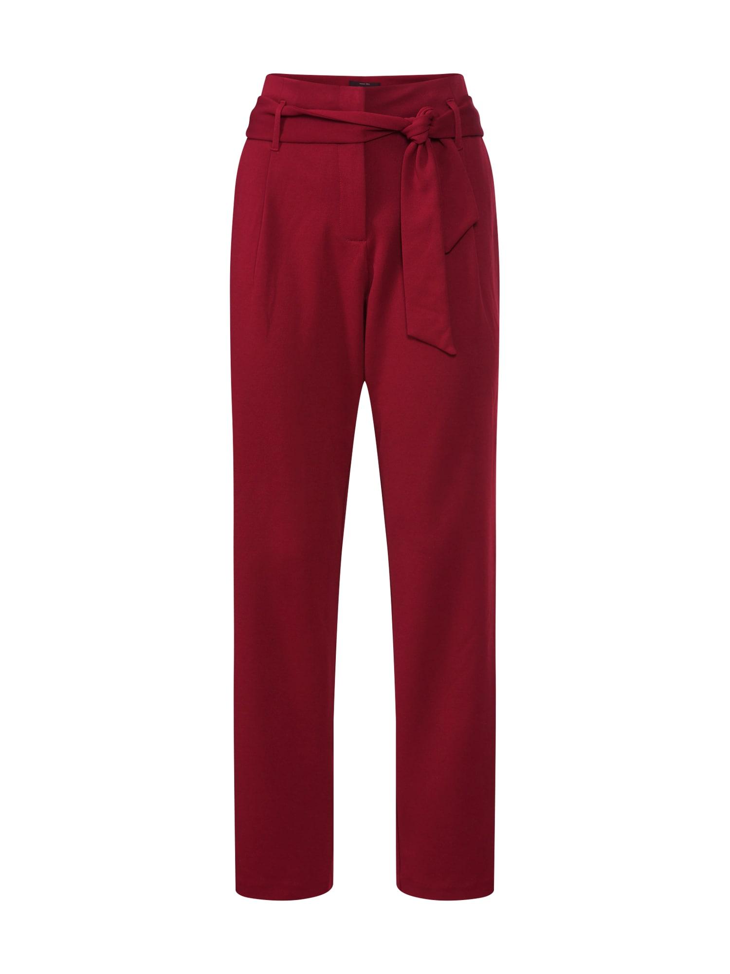 Kalhoty se sklady v pase CAROLINA vínově červená ONLY