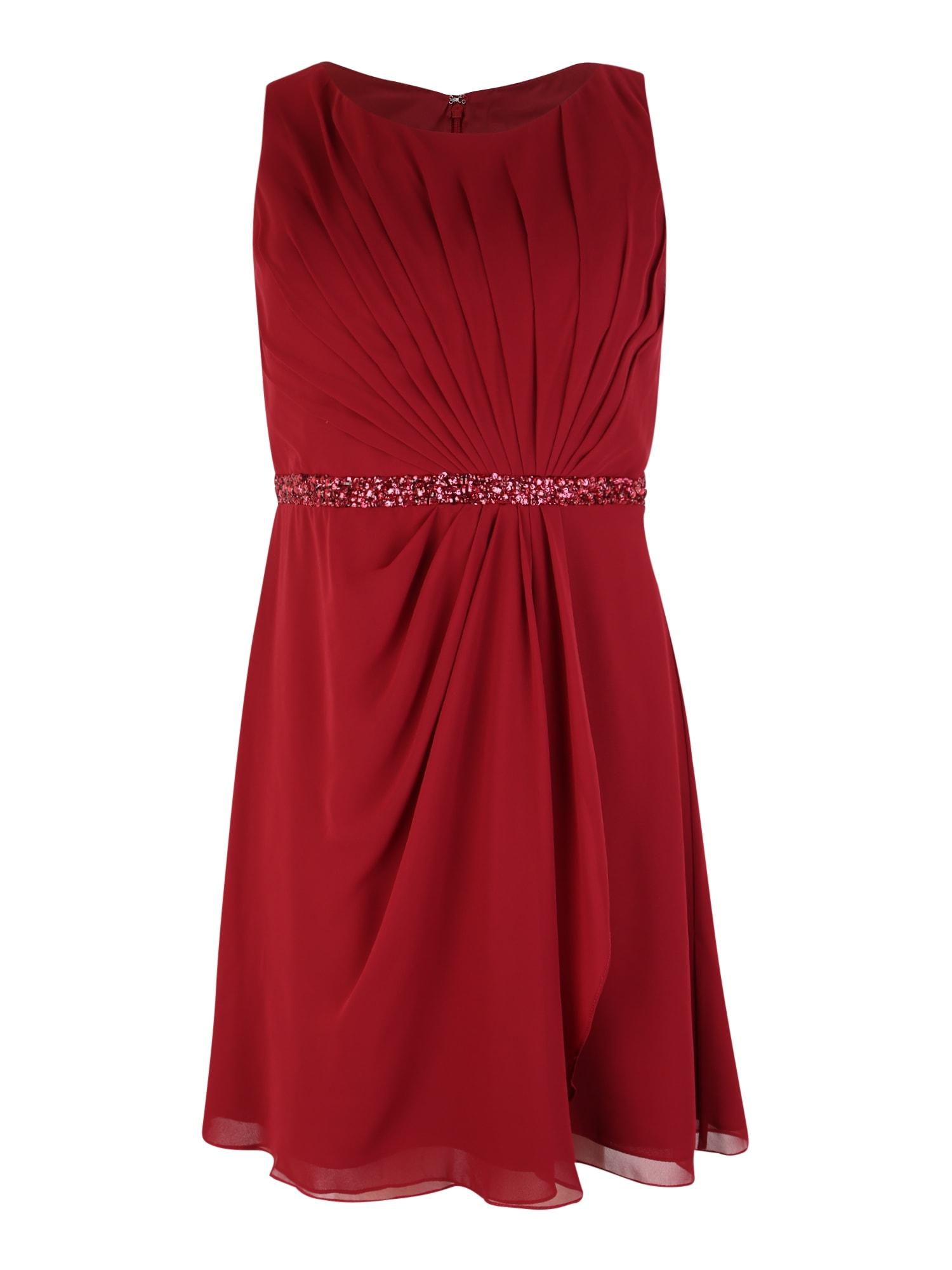 Společenské šaty červená My Mascara Curves