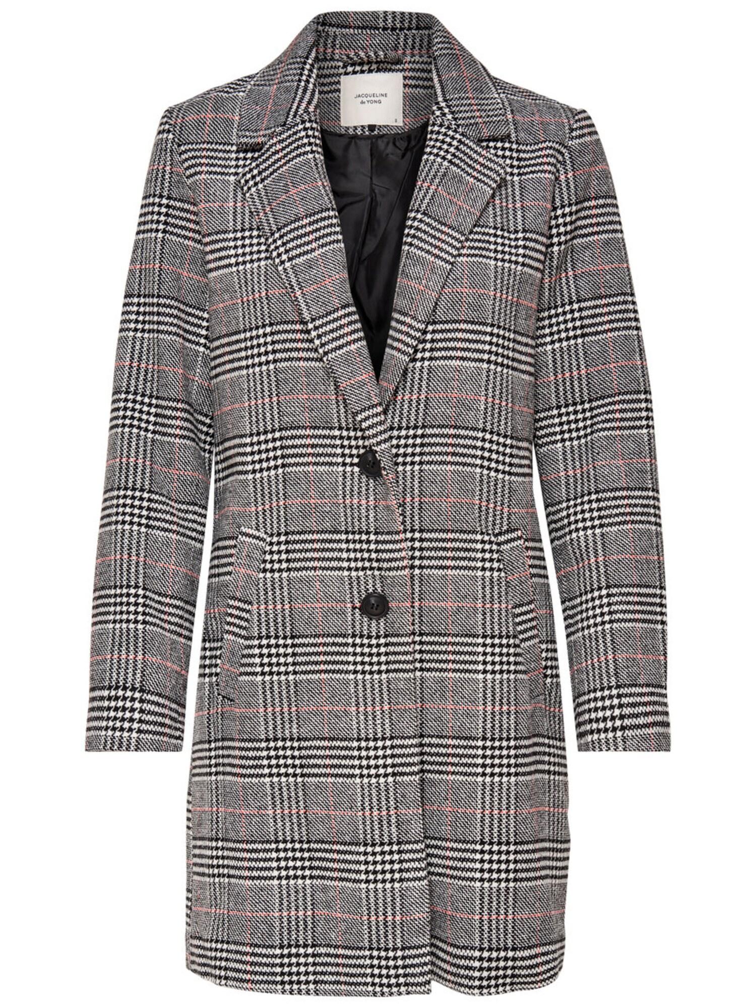 Přechodný kabát Emma korálová černá bílá JACQUELINE De YONG