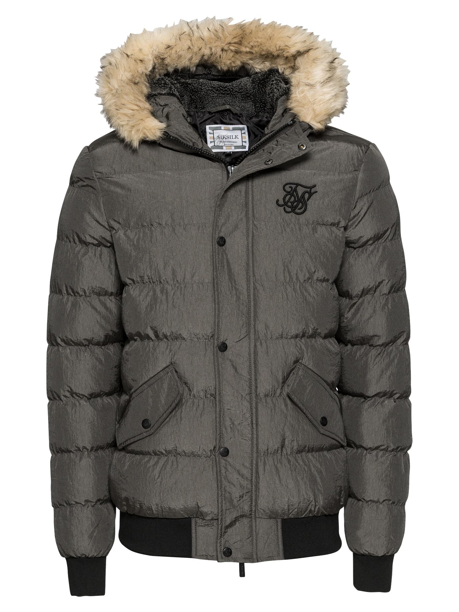 Zimní bunda parachute tmavě šedá SikSilk