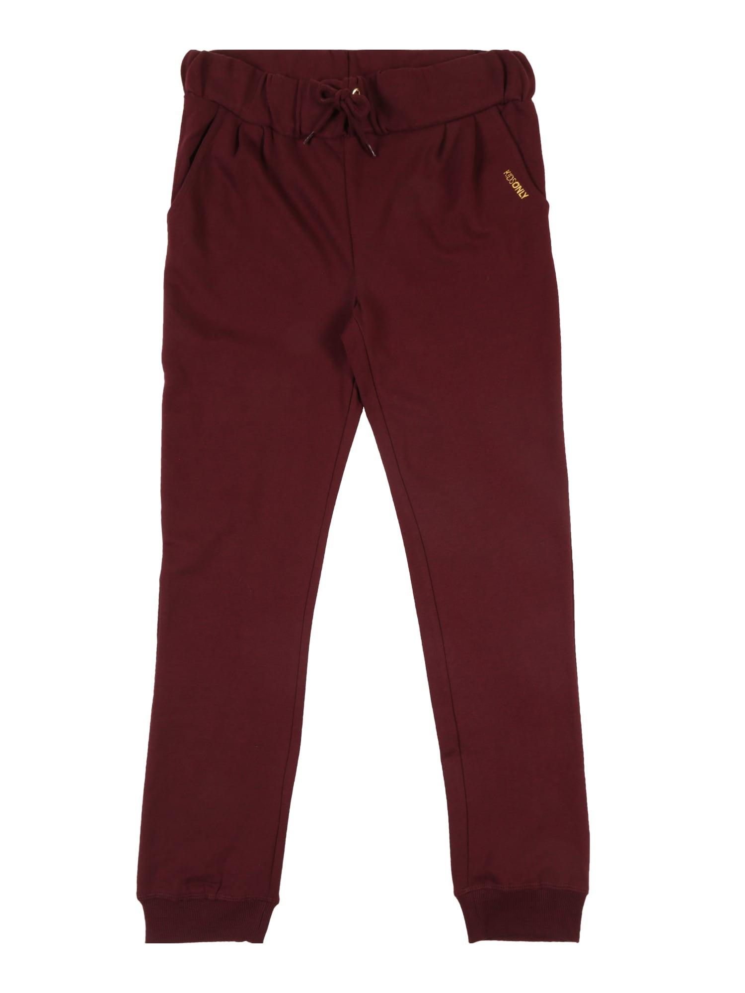 Kalhoty KONBEAT PANT SWT vínově červená KIDS ONLY