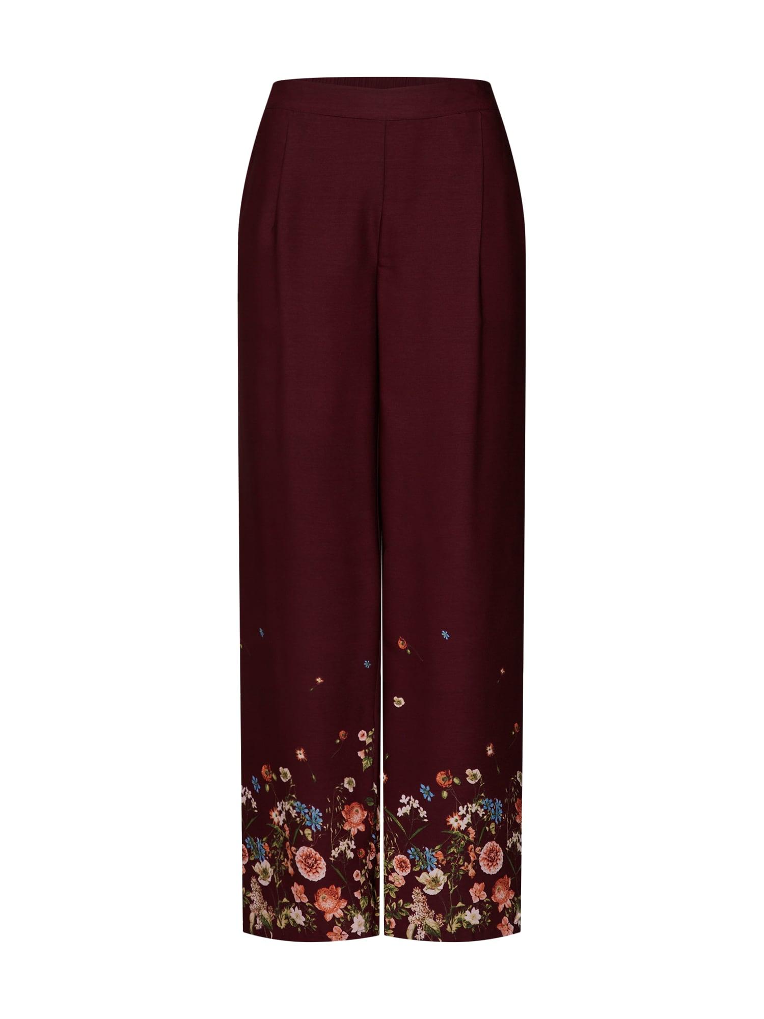 Kalhoty FINE vínově červená VERO MODA