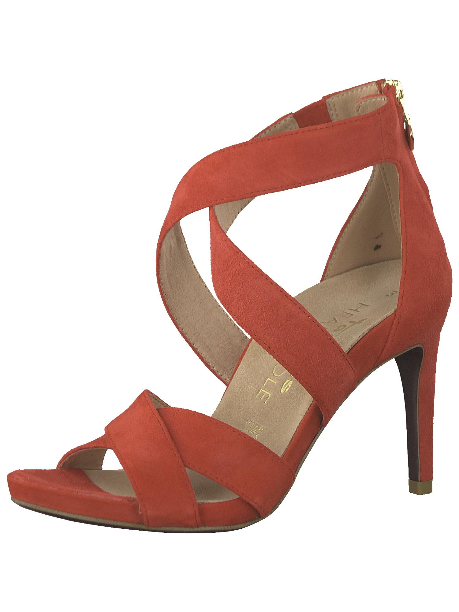 Páskové sandály oranžově červená TAMARIS