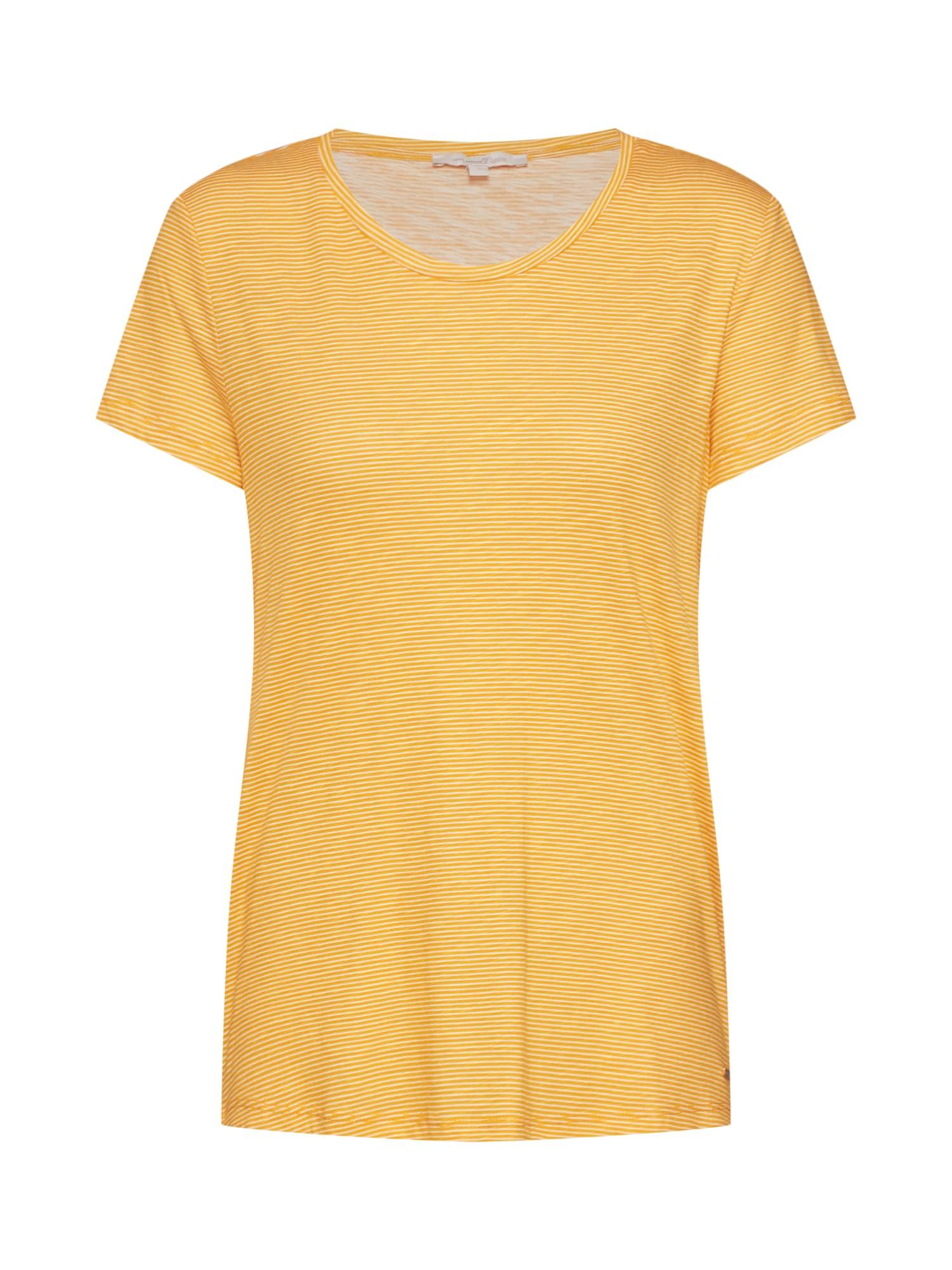 Tričko žlutá bílá TOM TAILOR DENIM