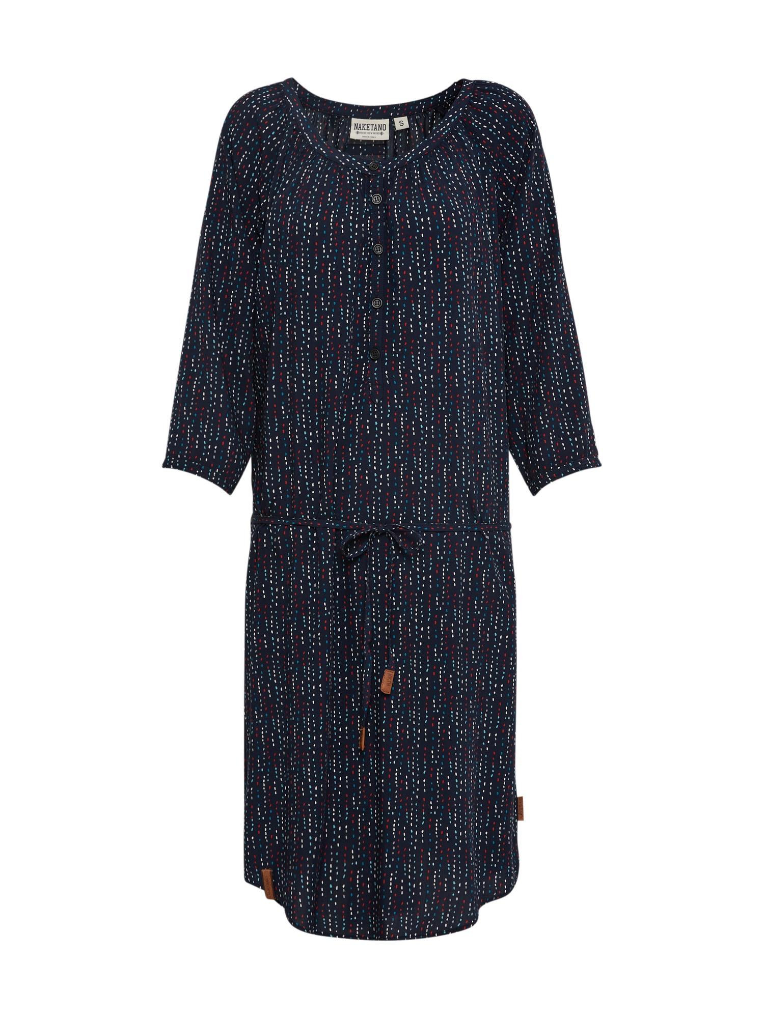 Šaty tmavě modrá mix barev Naketano