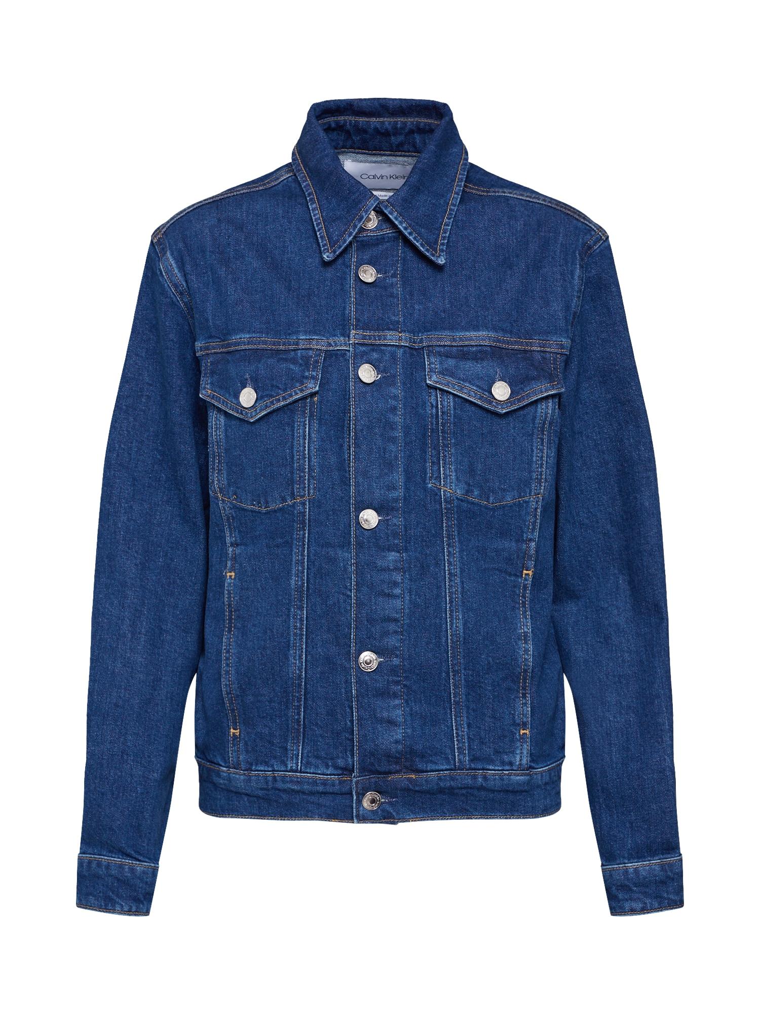 Přechodná bunda CLASSIC TRUCKER modrá džínovina Calvin Klein