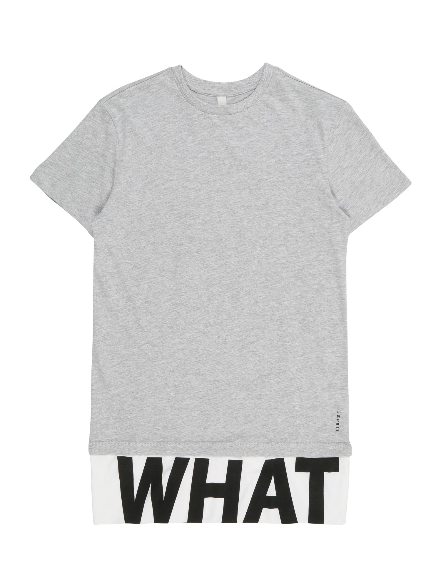 Tričko šedý melír černá bílá ESPRIT