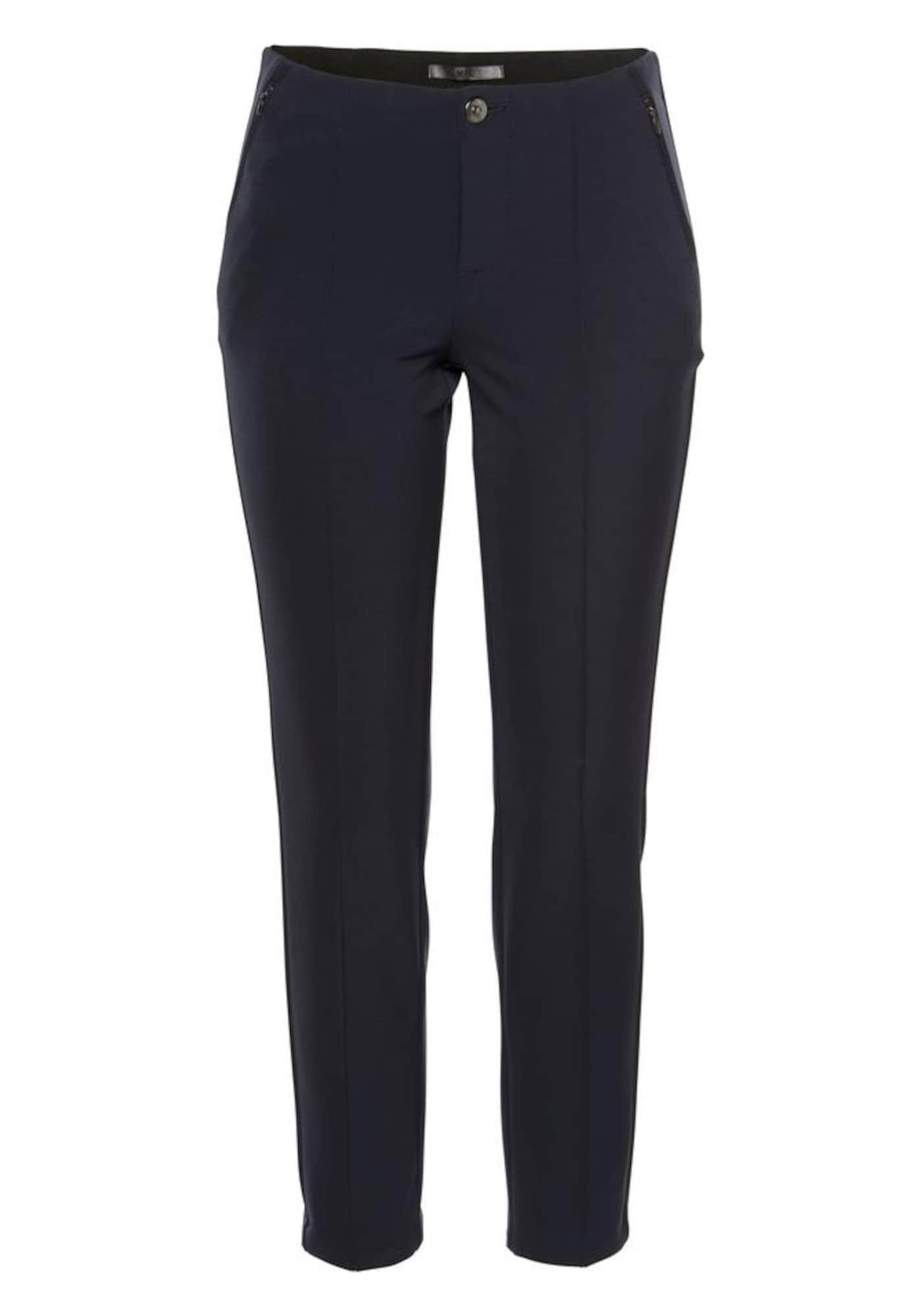 Kalhoty s puky Anna Zip námořnická modř MAC