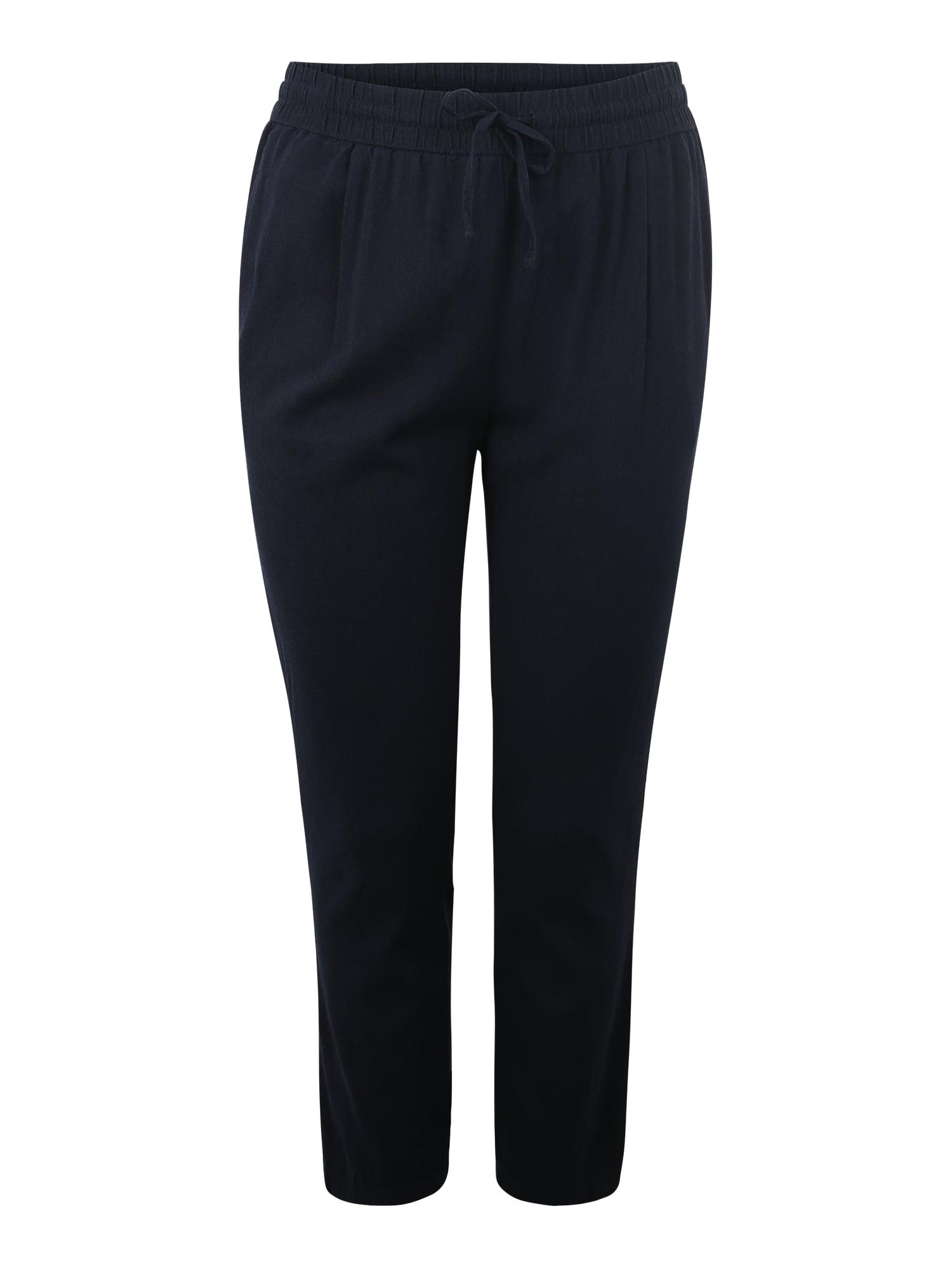 Kalhoty VMANNA MILO CITRUS ANCLE PANT WVN CURVE noční modrá Vero Moda Curve